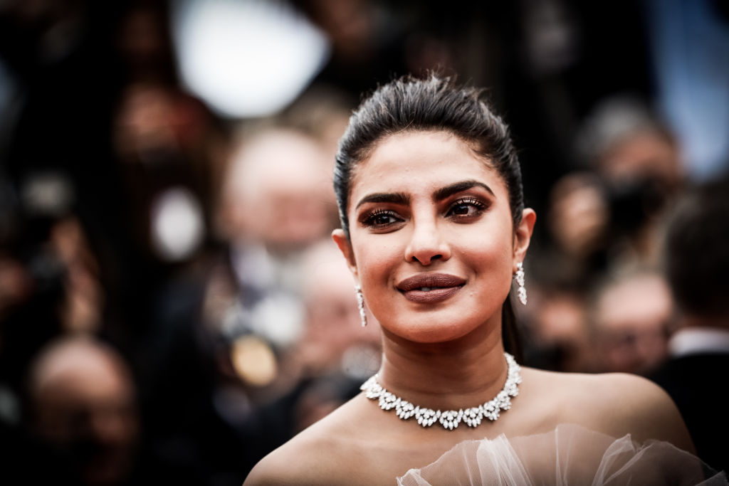 CANNES, FRANCE - MAY 18:  (EDITORS NOTE: Image has been digitally altered)  Priyanka Chopra attends the screening of
