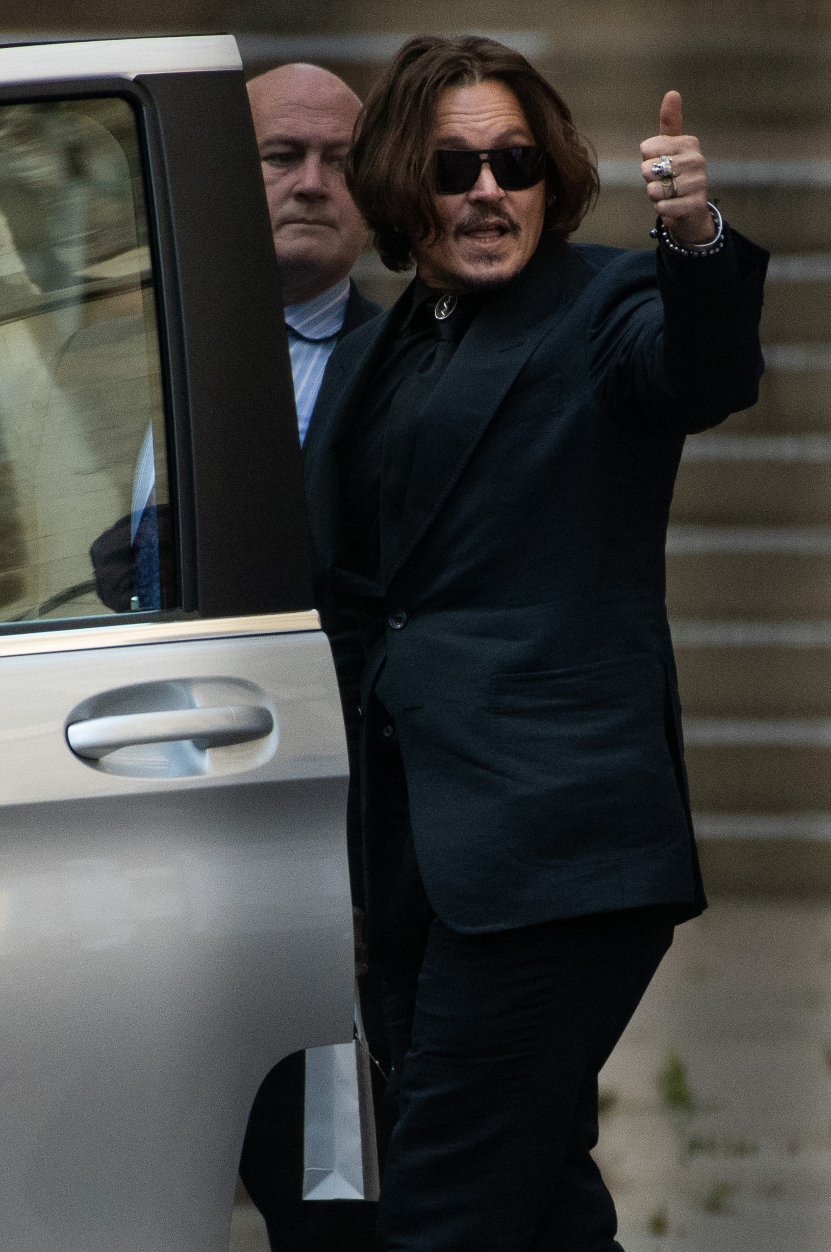 American Actor Johnny Depp departs the tenth day of a court hearing on a libel case against The Sun newspaper - Royal Courts Of Justice, London, England, UK on Monday 20 July, 2020.,Image: 545324870, License: Rights-managed, Restrictions: WORLD RIGHTS - Fee Payable Upon Reproduction - For queries contact Avalon.red - sales@avalon.red London: +44 (0) 20 7421 6000 Los Angeles: +1 (310) 822 0419 Berlin: +49 (0) 30 76 212 251, Model Release: no, Credit line: Retna/Avalon.red / Avalon Editorial / Profimedia