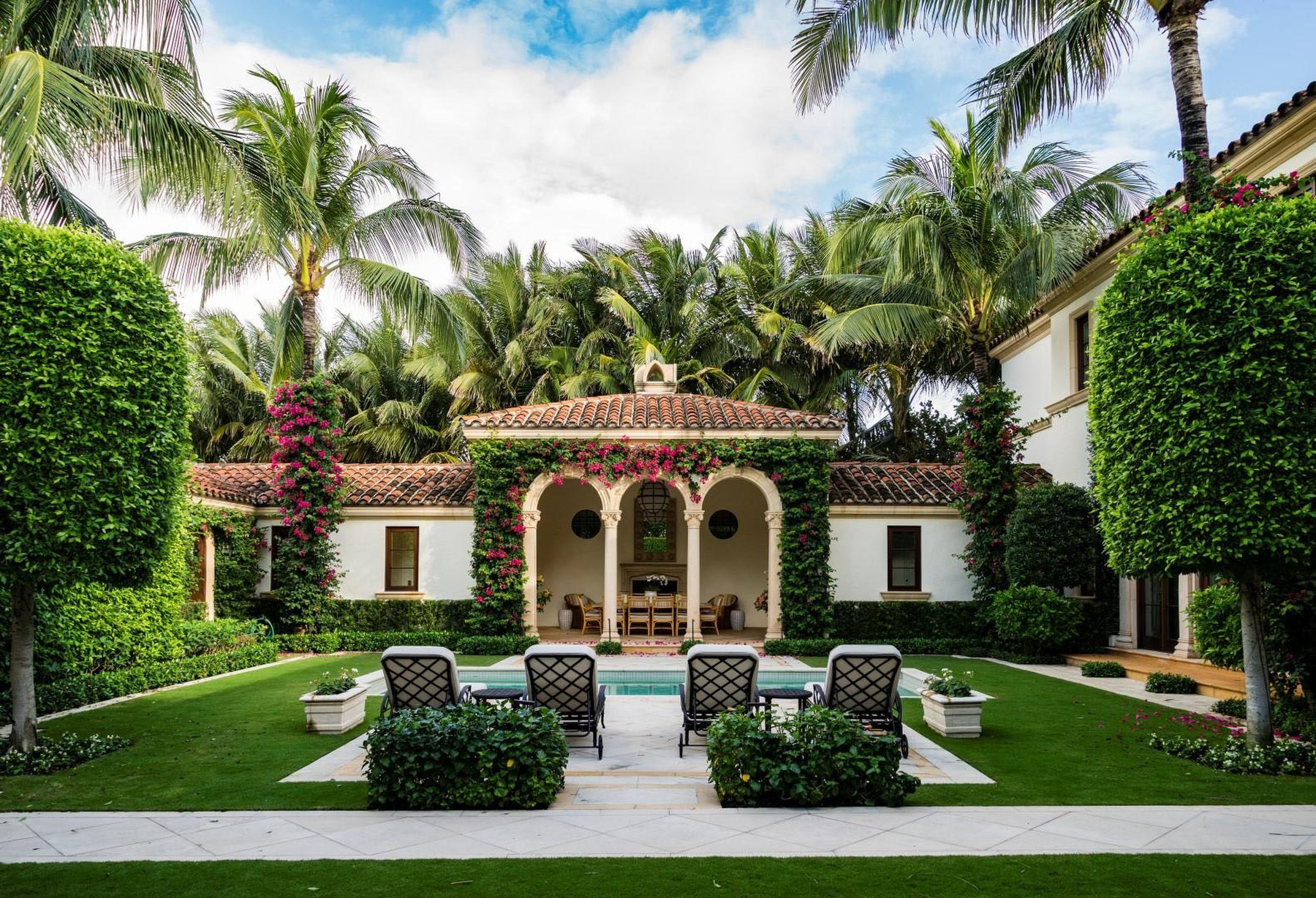 Jon Bon Jovi has splashed out a staggering  million on an oceanfront mansion in Palm Beach, Florida.  The rock superstar sold his smaller home down the road for around  million at the same time.  It's about a mile from the home of radio shock jock Howard Stern - one of Bon Jovi's good friends.  The oceanfront estate has seven bedrooms and seven bathrooms.  Inside, there's also a beautiful formal dining room, an office, a top-of-the-range kitchen, an exercise room, an elevator and a temperature-controlled wine cellar. It has ocean views throughout.   Outside, there are two oceanfront loggias, courtyard pool and cabana.,Image: 545980366, License: Rights-managed, Restrictions: , Model Release: no, Credit line: IMP Features / IMP Features / Profimedia