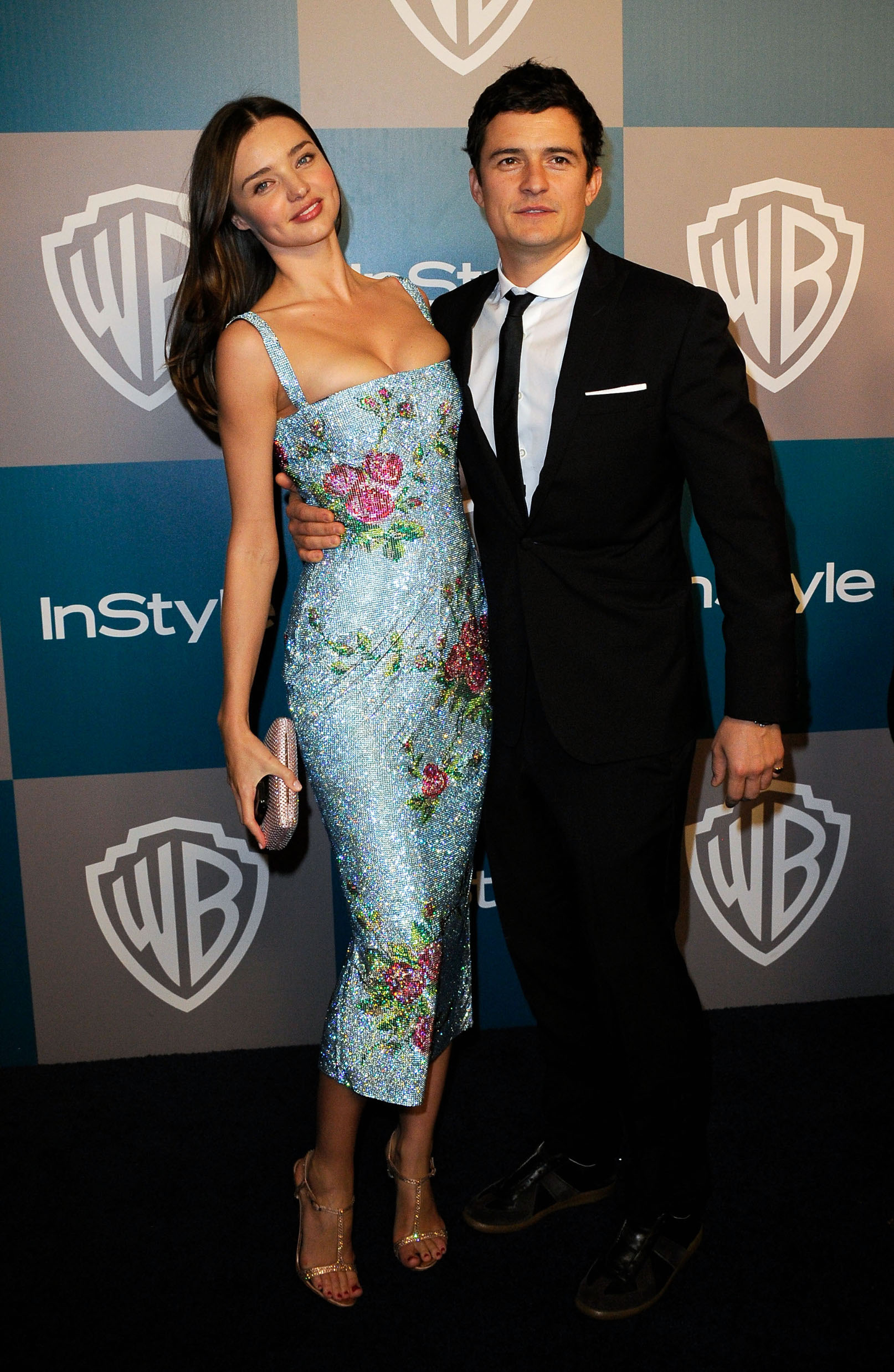 BEVERLY HILLS, CA - JANUARY 15:  Model Miranda Kerr and Orlando Bloom arrive at 13th Annual Warner Bros. And InStyle Golden Globe Awards After Party at The Beverly Hilton hotel on January 15, 2012 in Beverly Hills, California.  (Photo by Kevork Djansezian/Getty Images)