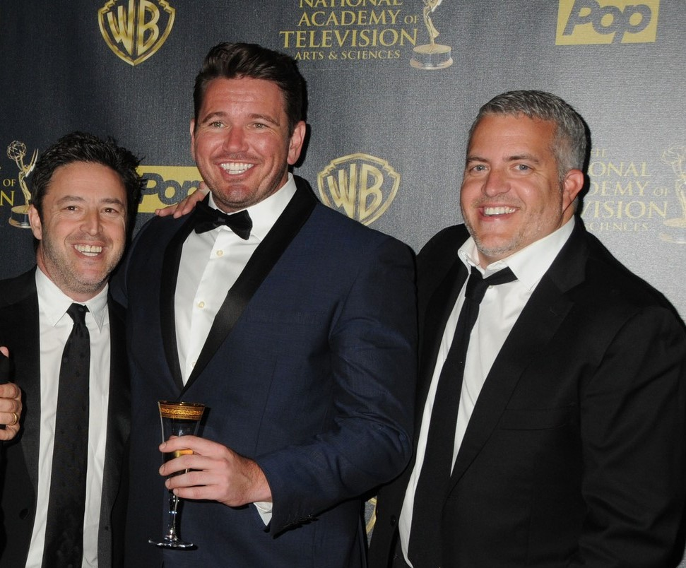26 April 2015 - Burbank, California - Jonathan Norman, Mary Connelly, Andy Lassner, Kevin Leman, Ed Glavin. The 42nd Annual Daytime Emmy Awards - Press Room held at Warner Bros. Studios.,Image: 240159454, License: Rights-managed, Restrictions: *** France OUT ***, Model Release: no, Credit line: Admedia, Inc / ddp USA / Profimedia