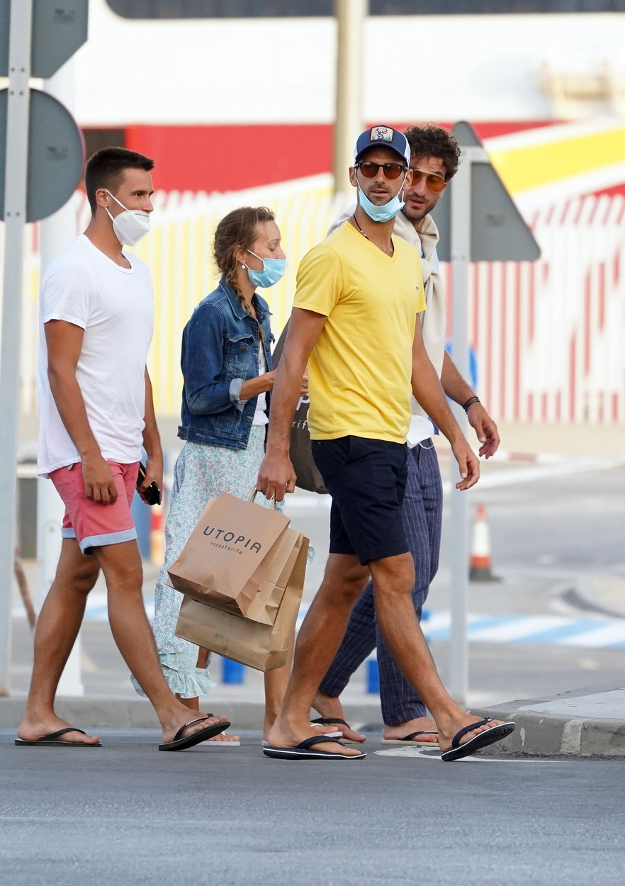 EXCLUSIVE IMAGES - Tennis player Novak Djokovic and his wife Jelena Djokovic together with friends seen out and about on July 29th 2020 in Cadiz, Spain.,Image: 548313746, License: Rights-managed, Restrictions: , Model Release: no, Credit line: IMP Features / IMP Features / Profimedia