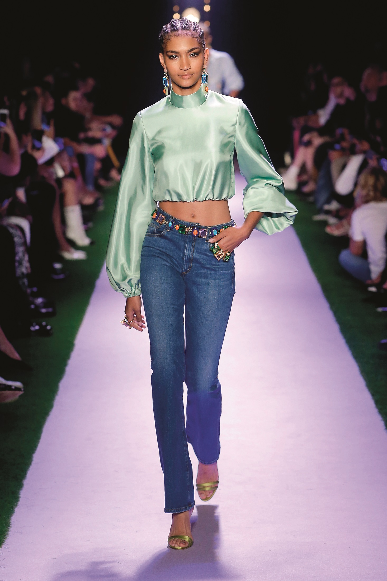 Model Anyelina Rosa walking on the runway Brandon Maxwell Fashion Show during New York Fashion Week Womenswear Spring / Summer 2020 held in New York, NY on September 8, 2019.,Image: 469974455, License: Rights-managed, Restrictions: *** World Rights ***, Model Release: no, Credit line: Jonas Gustavsson / ddp USA / Profimedia