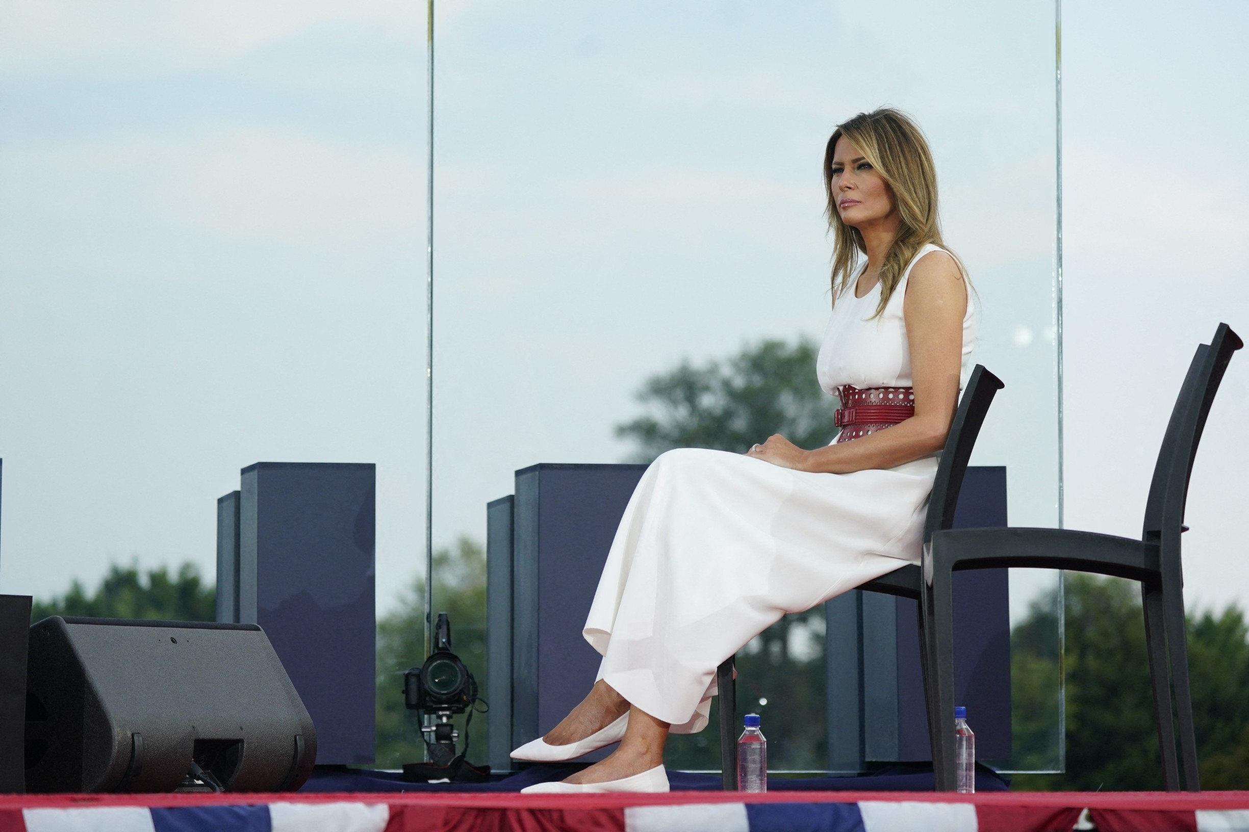 July 4, 2020 - Washington, DC, United States: United States President Donald Trump and First lady Melania Trump participate in the 2020 Salute to America at the White House.,Image: 539839326, License: Rights-managed, Restrictions: , Model Release: no, Credit line: Pool/ABACA / Abaca Press / Profimedia
