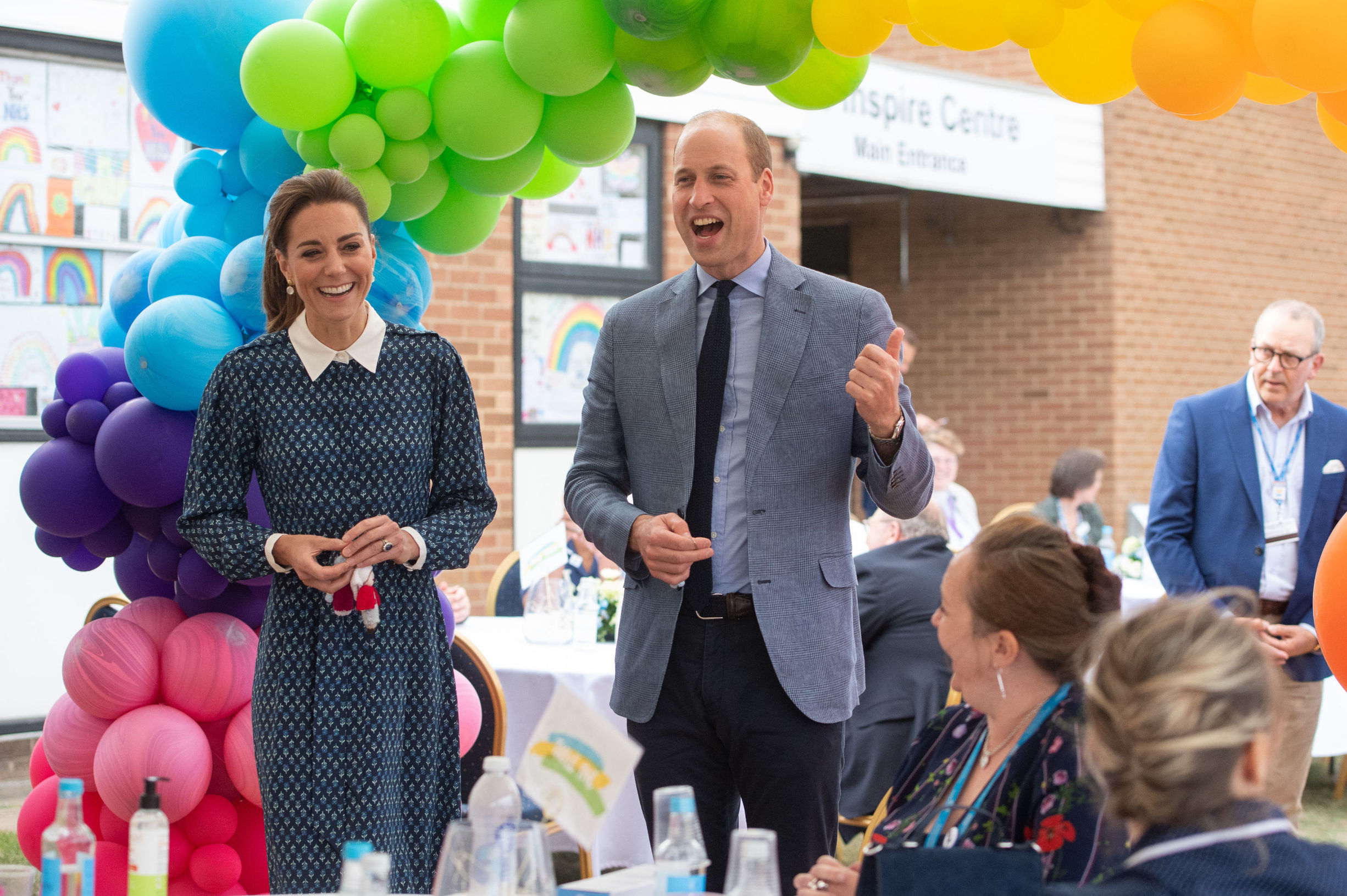 Prince William and Catherine Duchess of Cambridge during their visit to Queen Elizabeth Hospital in King's Lynn as part of the NHS birthday celebrations Prince William and Catherine Duchess of Cambridge visit to Queen Elizabeth Hospital, King's Lynn, UK - 05 Jul 2020,Image: 540402299, License: Rights-managed, Restrictions: , Model Release: no, Credit line: - / Shutterstock Editorial / Profimedia