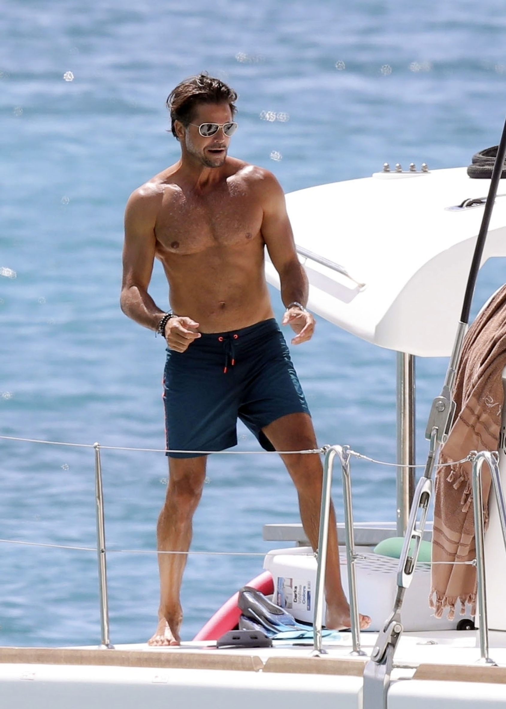 St. Barts, SAINT BARTS  -  *EXCLUSIVE*  - WEB MUST CALL FOR PRICING -  French Actor David Charvet who played Matthew