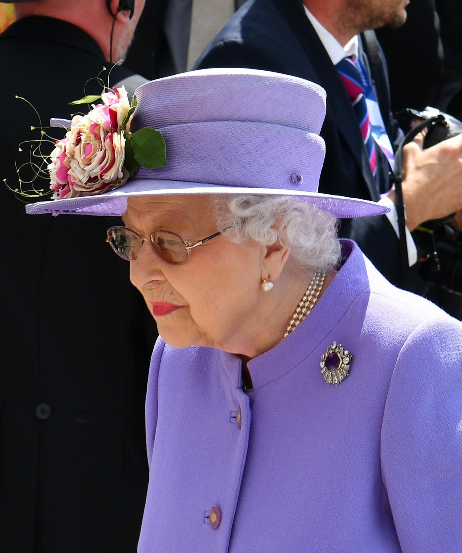 BGUK_1251062 - Epsom, UNITED KINGDOM  - HRH Queen Elizabeth II pictured attending the Investec 2018 Derby Festival at Epsom Downs.  Pictured: Queen Elizabeth II  BACKGRID UK 2 JUNE 2018,Image: 373639497, License: Rights-managed, Restrictions: , Model Release: no, Credit line: ANCL / Backgrid UK / Profimedia