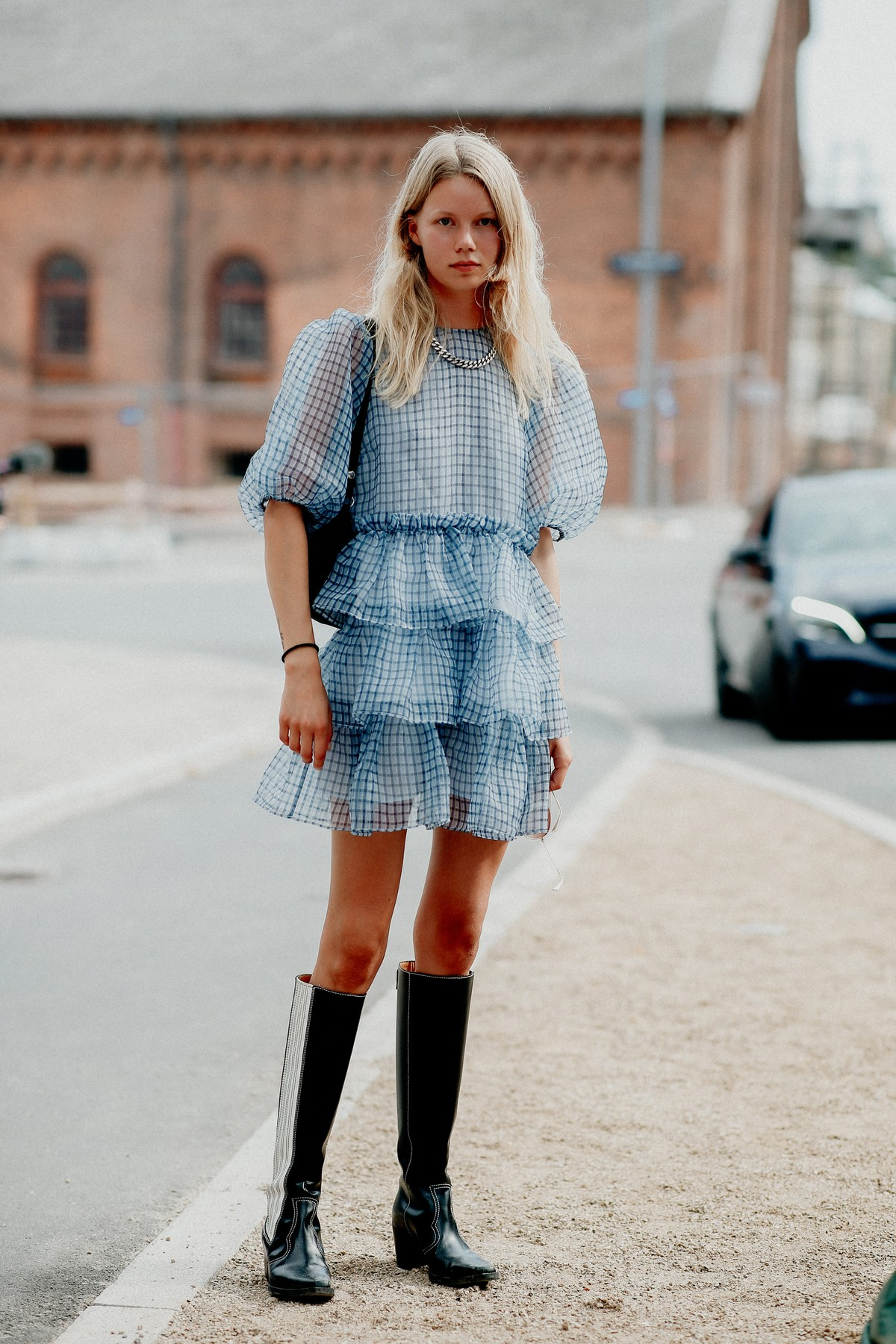 Street style, Rebekka Eriksen arriving at 7 days active Spring Summer 2021 show, held at Carlsberg HQ, Copenhagen, Denmark, on August 10th, 2020.,Image: 551765665, License: Rights-managed, Restrictions: , Model Release: no, Credit line: Bertrand-Hillion Marie-Paola/ABACA / Abaca Press / Profimedia