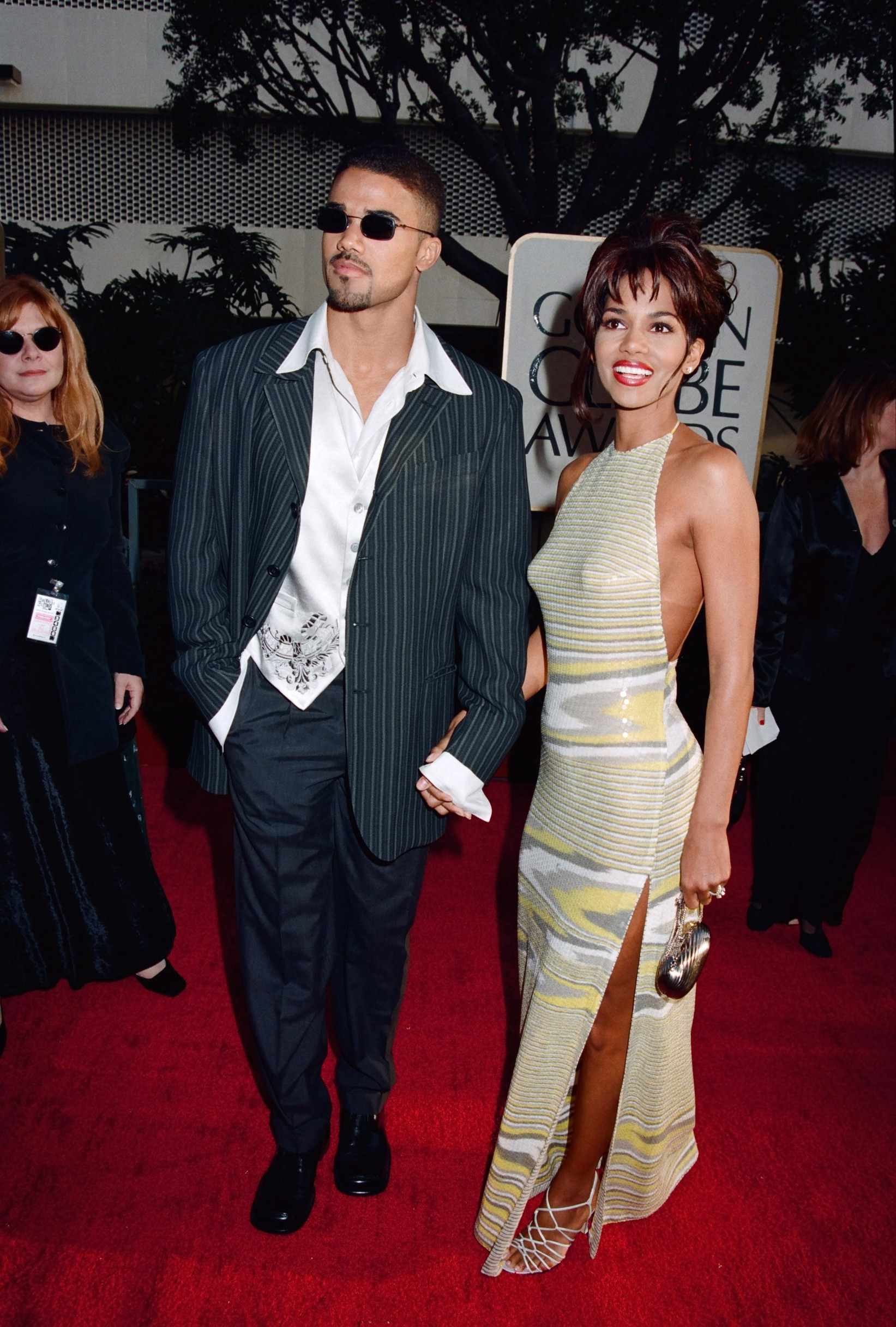 Shemar Moore and Halle Berry at 1997 Golden Globe Awards,Image: 180078481, License: Rights-managed, Restrictions: For Editorial Use Only, Model Release: no, Credit line: The Hollywood Archive / Hollywood Archive / Profimedia