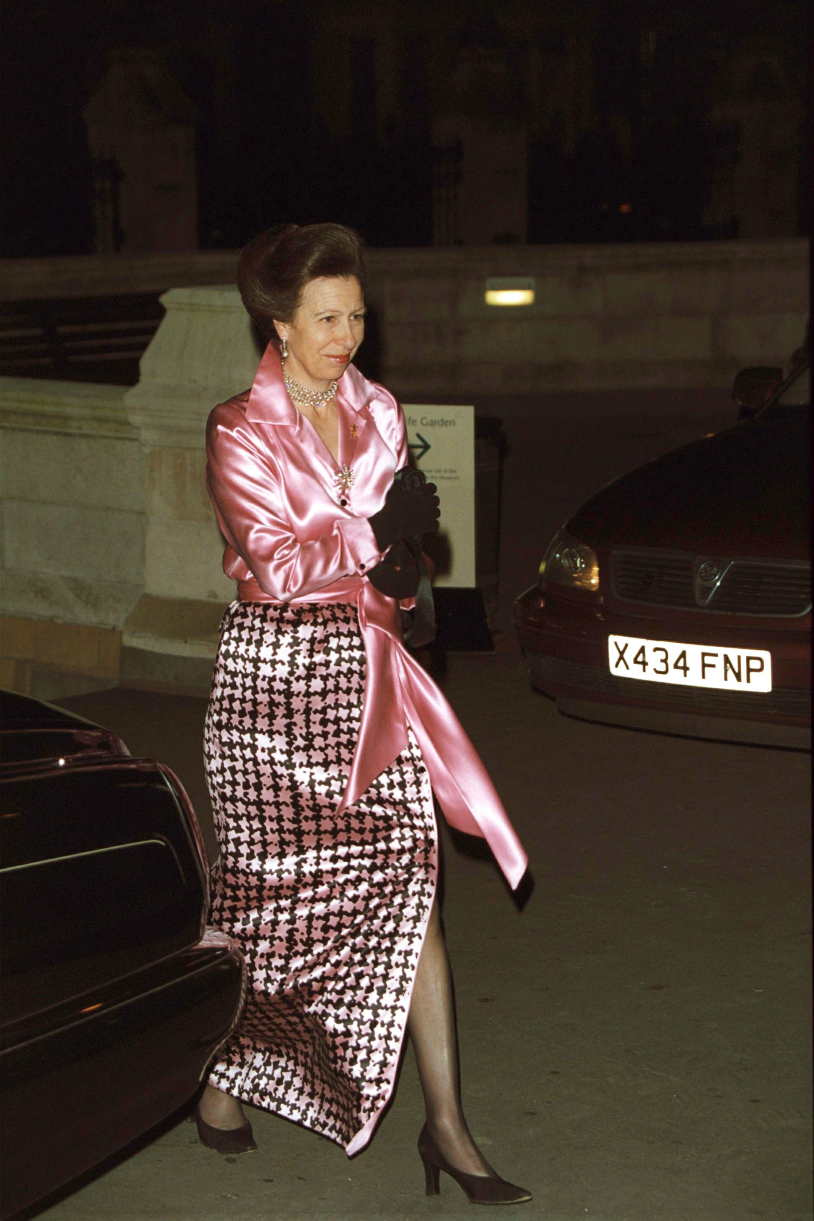 PRINCESSE ANNE Princess Anne's Recycled Clothes 783441 COM  Princess Anne's Recycled Clothes  Princess Anne has long been known by fashion-conscious Royal watchers as one of the least profligate Royals when it comes to clothing, believing that if a dress is worth wearing once, then it's worth wearing again.   This was highlighted recently (Jul 2008) when she wore the same outfit at the wedding of her cousin Lady Rose Windsor as the one she wore to Prince Charles's wedding to Diana 27 years previously. The white dress with yellow floral print was even partnered by the same hat she wore back in 1981.   Unlike others in the public eye, the Princess Royal believes in being frugal by recycling items in her wardrobe.