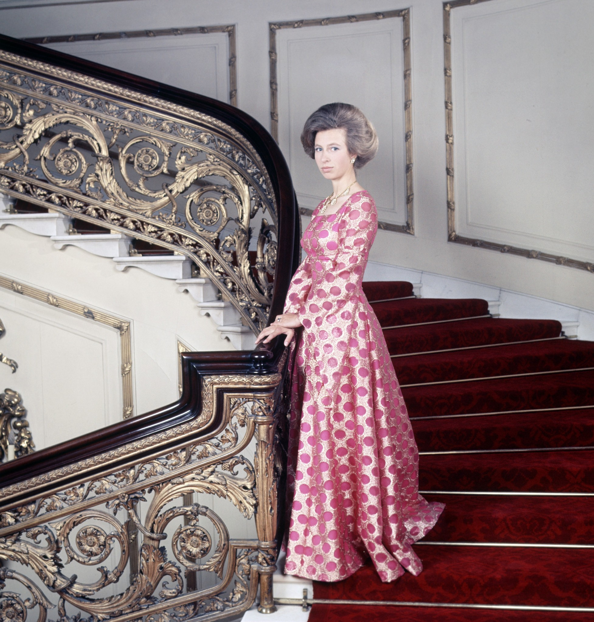 Princess Anne on the Grand staircase of Buckingham Palace Princess Anne,Image: 233267218, License: Rights-managed, Restrictions: , Model Release: no, Credit line: Reginald Davis / Shutterstock Editorial / Profimedia