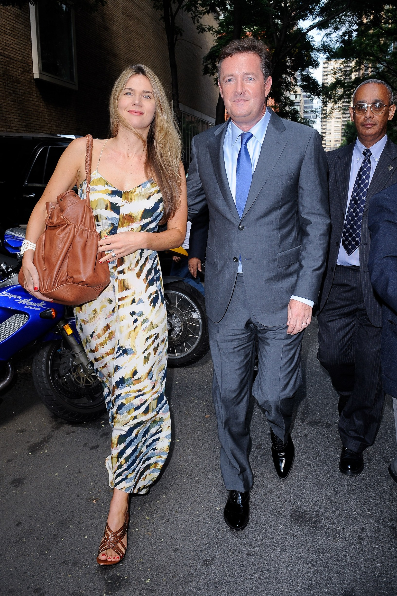 Celia Walden, television personality Piers Morgan, visit 'Live With Regis And Kelly' taping at the ABC Lincoln Center Studios out and about for CELEBRITY CANDIDS - MONDAY, , New York, NY August 2, 2010.,Image: 99536220, License: Rights-managed, Restrictions: For usage credit please use; Ray Tamarra/Everett Collection, Model Release: no, Credit line: Ray Tamarra Collection / Everett / Profimedia