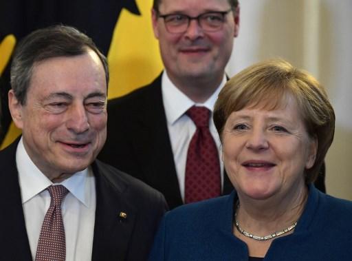 Mario Draghi i Angela Merkel