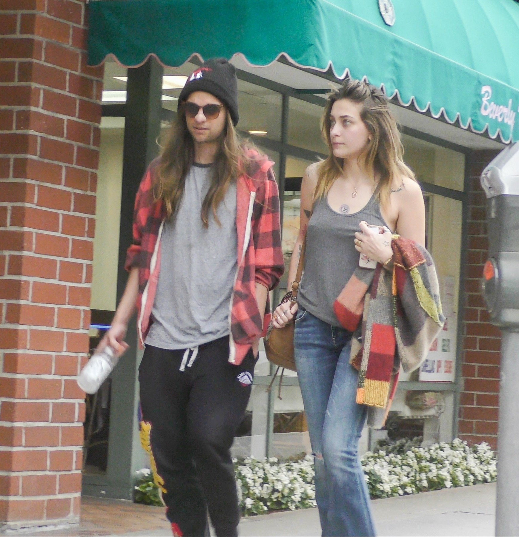 Beverly Hills, CA  - *EXCLUSIVE*  - Paris Jackson and boyfriend Gabriel Glenn step out for a dentist visit in Beverly Hills.  *UK Clients - Pictures Containing Children Please Pixelate Face Prior To Publication*,Image: 436198388, License: Rights-managed, Restrictions: , Model Release: no, Credit line: Bruce/MSBH / BACKGRID / Backgrid USA / Profimedia