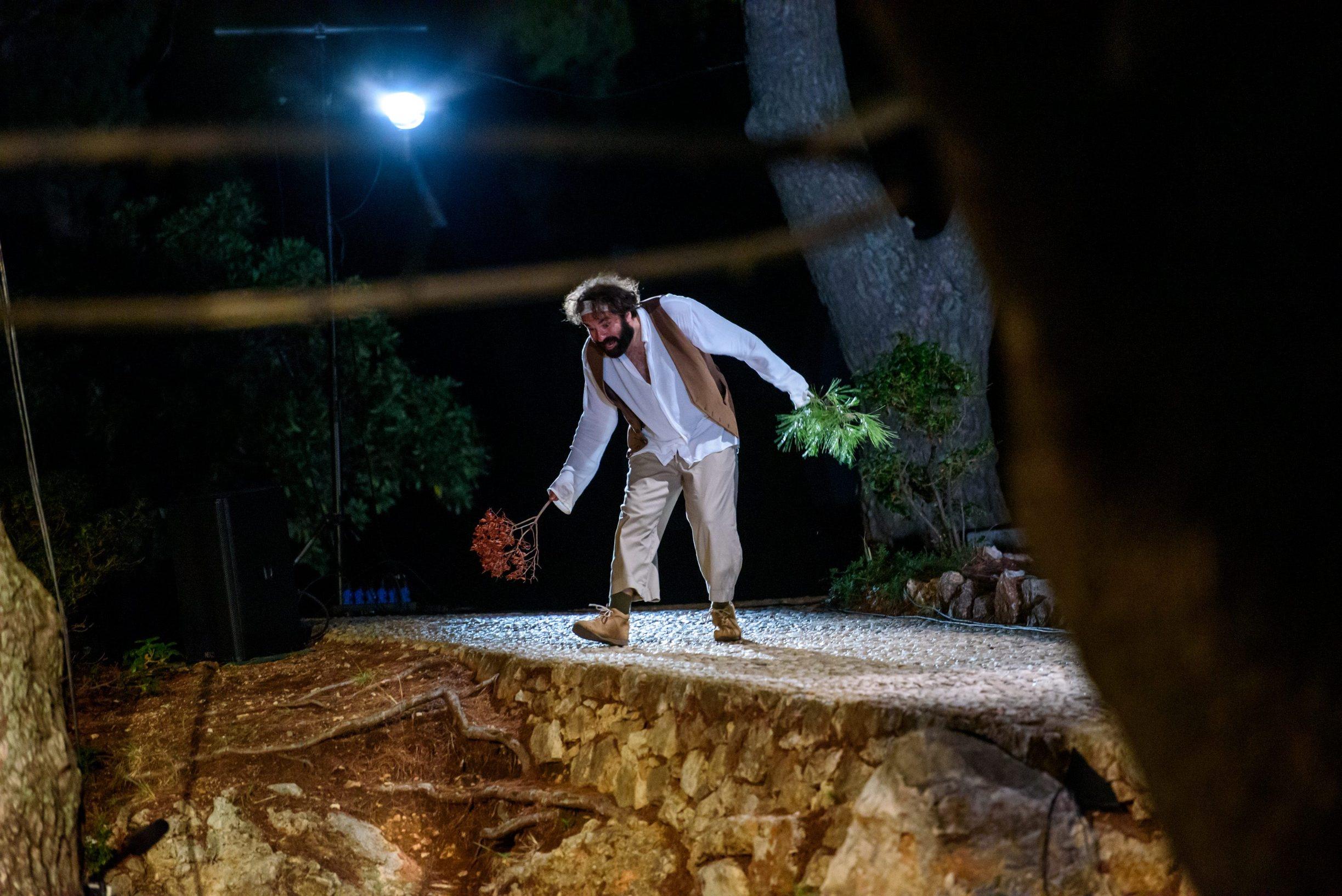 Dubrovnik, 20.08.2020. Premijera Drziceve Grizule u reziji Sase Bozica i Petre Hrascanec u parku Gradac. Foto: Tonci Plazibat / CROPIX