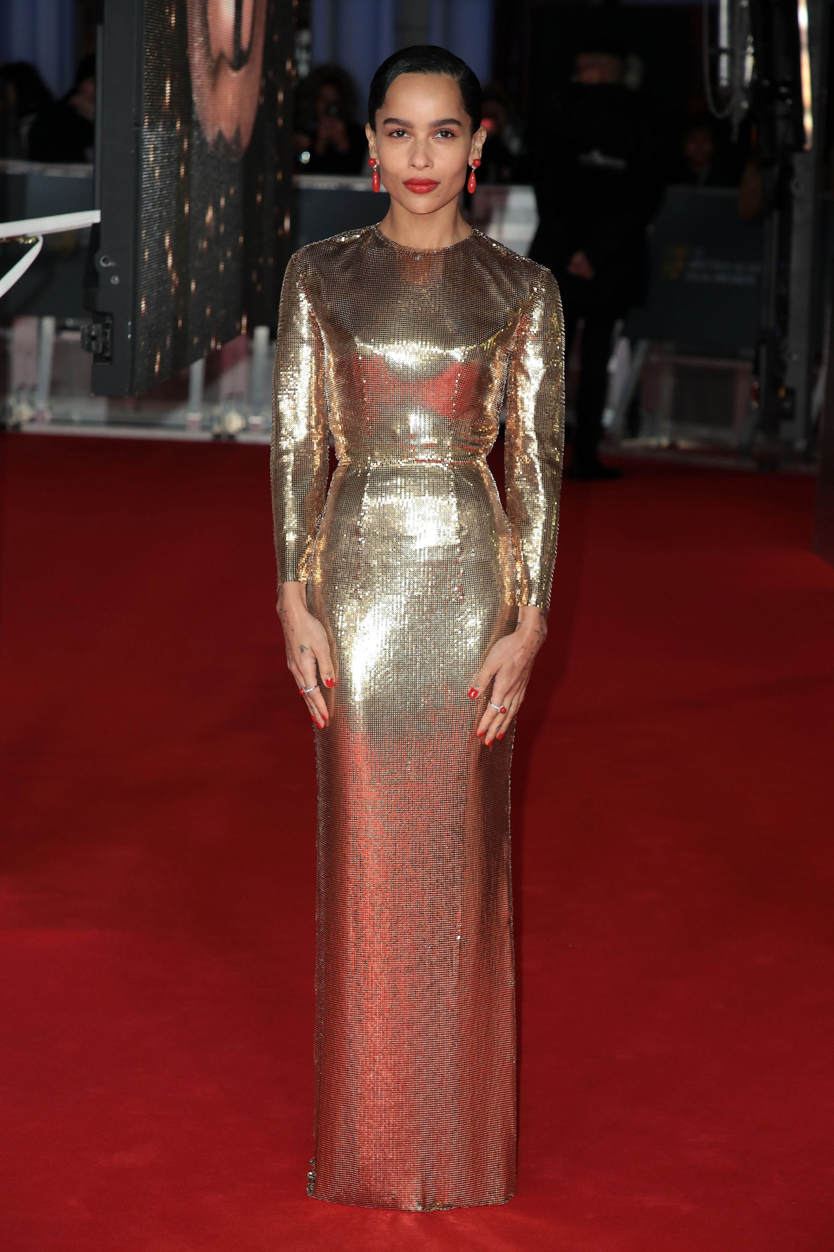 Zoe Kravitz at the 73rd British Academy Film Awards,Image: 496175466, License: Rights-managed, Restrictions: WORLD RIGHTS - Fee Payable Upon Reproduction - For queries contact Avalon.red - sales@avalon.red London: +44 (0) 20 7421 6000 Los Angeles: +1 (310) 822 0419 Berlin: +49 (0) 30 76 212 251, Model Release: no, Credit line: Avalon.red / Avalon Editorial / Profimedia