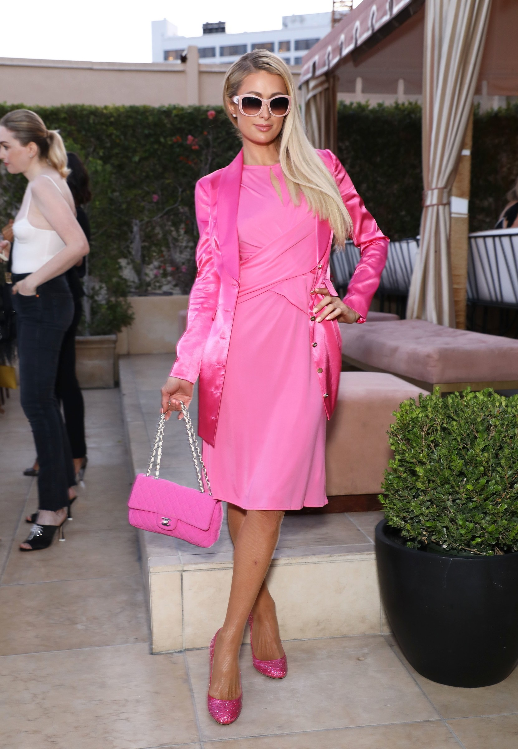 Paris Hilton Rumer Willis hosts Dinner Party for Cindy Eckert's Right To Desire Campaign, Sunset Tower Hotel, Los Angeles, USA - 07 Aug 2019,Image: 463225451, License: Rights-managed, Restrictions: , Model Release: no, Credit line: Sara Jaye Weiss / Shutterstock Editorial / Profimedia