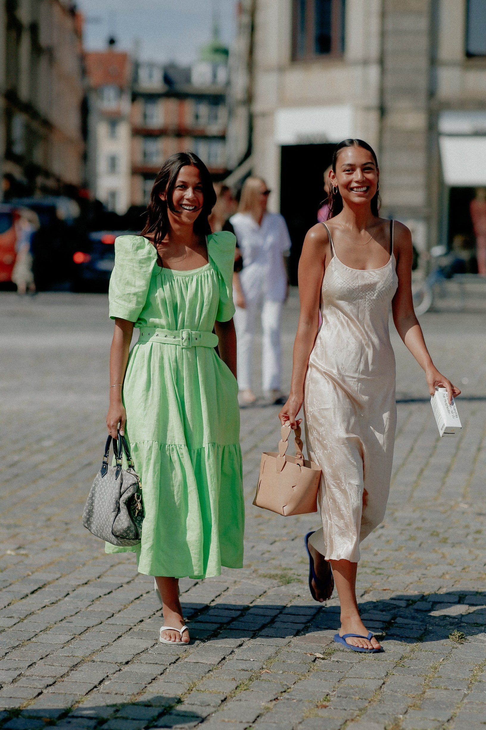 Street style, arriving at Helmstedt Spring Summer 2021 show, held at Kongens Nytorv, Copenhagen, Denmark, on August 12, 2020.,Image: 554930176, License: Rights-managed, Restrictions: , Model Release: no, Credit line: Bertrand-Hillion Marie-Paola/ABACA / Abaca Press / Profimedia
