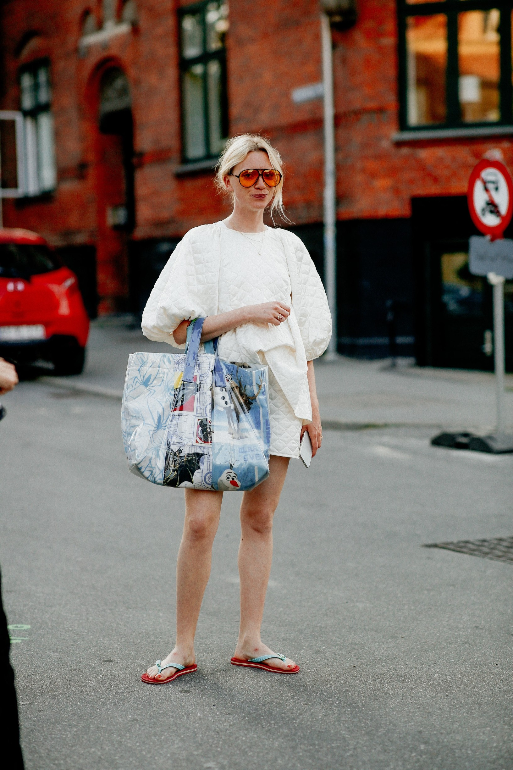 Street style, arriving at By Malene Birger Spring Summer 2021 show, held at Rahbeks Alle, Copenhagen, Denmark, on August 12, 2020.,Image: 554930228, License: Rights-managed, Restrictions: , Model Release: no, Credit line: Bertrand-Hillion Marie-Paola/ABACA / Abaca Press / Profimedia