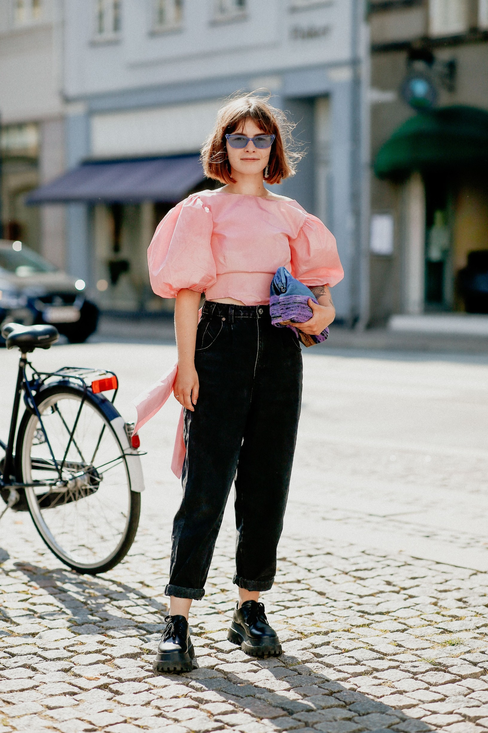 Street style, Zofia Piotrowski arriving at Mfpen Spring Summer 2021 show, held at Bredgade, Copenhagen, Denmark, on August 12, 2020.,Image: 554930267, License: Rights-managed, Restrictions: , Model Release: no, Credit line: Bertrand-Hillion Marie-Paola/ABACA / Abaca Press / Profimedia