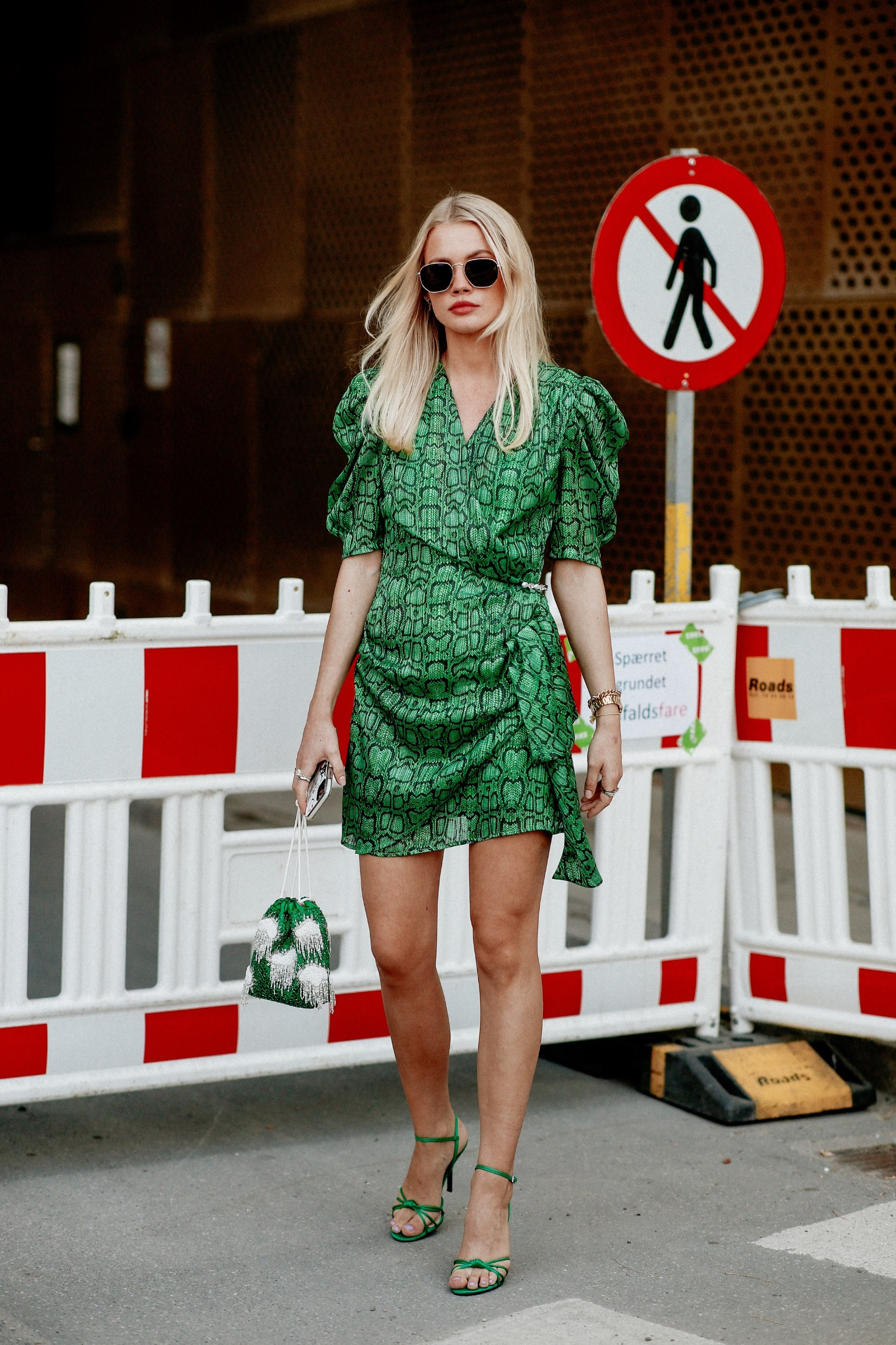 Street style, Andrea Steen arriving at Henrick Vibskov Spring Summer 2021 show, held at Hanging Gardens, Copenhagen, Denmark, on August 12, 2020.,Image: 554929863, License: Rights-managed, Restrictions: , Model Release: no, Credit line: Bertrand-Hillion Marie-Paola/ABACA / Abaca Press / Profimedia