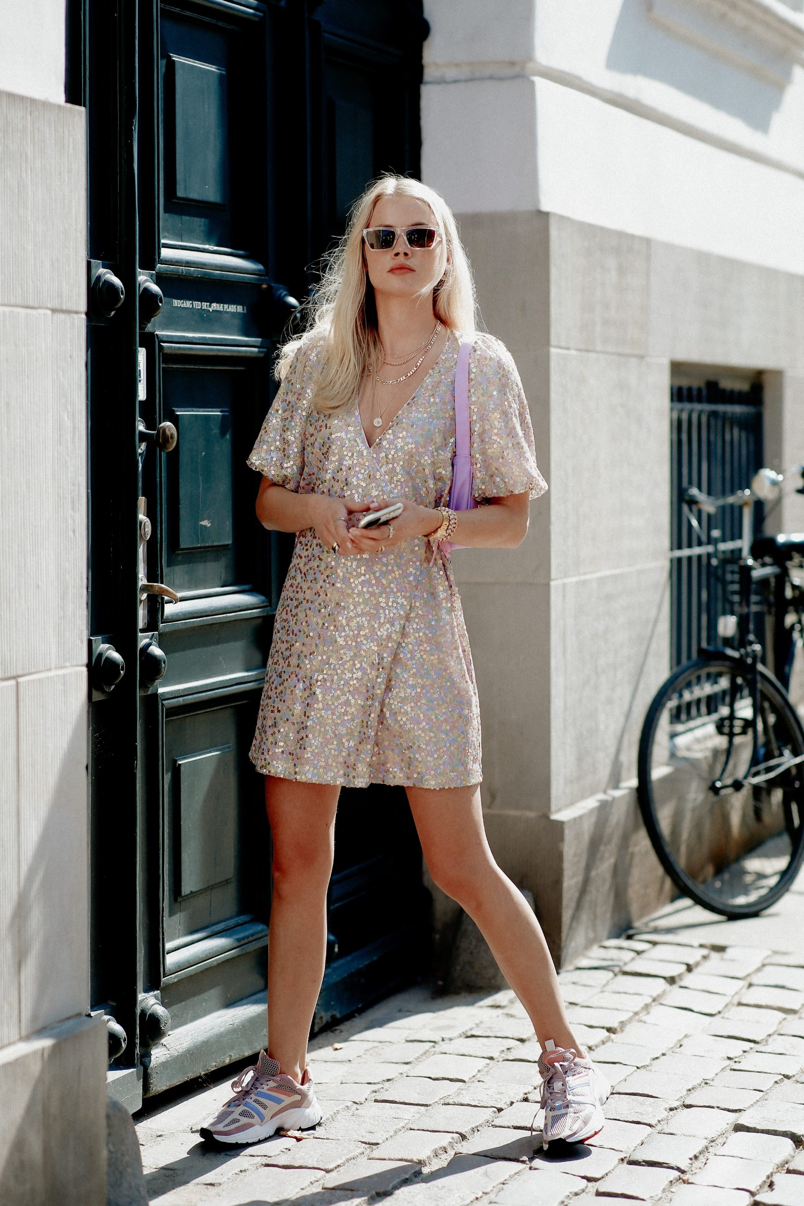 Street style, Andrea Steen arriving at Mfpen Spring Summer 2021 show, held at Bredgade, Copenhagen, Denmark, on August 12, 2020.,Image: 554929867, License: Rights-managed, Restrictions: , Model Release: no, Credit line: Bertrand-Hillion Marie-Paola/ABACA / Abaca Press / Profimedia