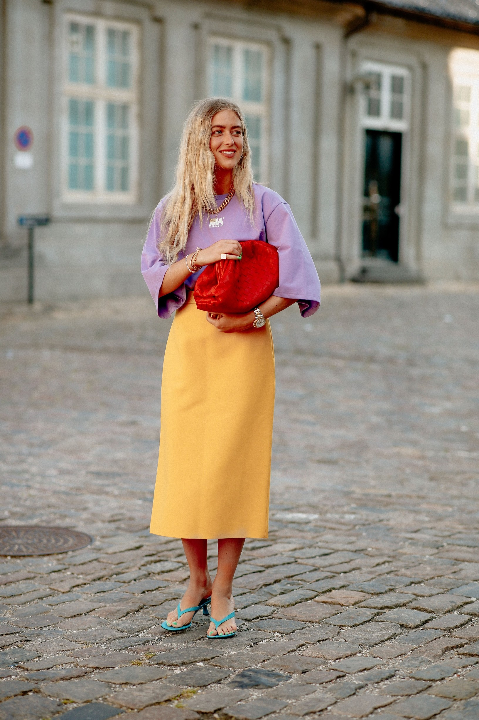 Street style, Emili Sindlev arriving at Selected Spring Summer 2021 show, held at Bredgade, Copenhagen, Denmark, on August 12, 2020.,Image: 554929929, License: Rights-managed, Restrictions: , Model Release: no, Credit line: Bertrand-Hillion Marie-Paola/ABACA / Abaca Press / Profimedia