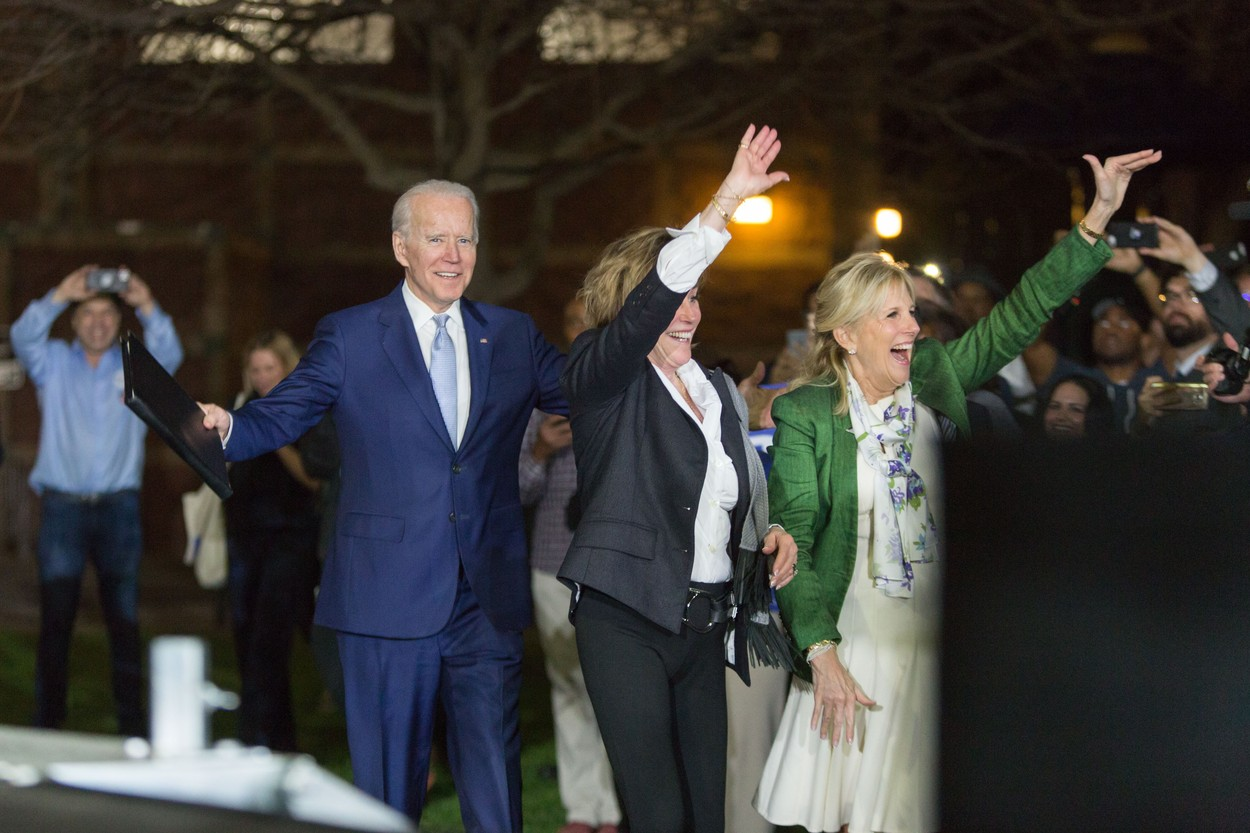Former Vice President Joe Biden, 2020 Democratic presidential candidate, left, his sister Valerie Biden, center, and his wife Jill Biden, right, arrive at his Super Tuesday Los Angeles Rally held at the Baldwin Hills Recreation Center on March 3, 2020 in Baldwin Hills, Los Angeles, California, United States.,Image: 503461288, License: Rights-managed, Restrictions: WORLD RIGHTS - Fee Payable Upon Reproduction - For queries contact Avalon.red - sales@avalon.red London: +44 (0) 20 7421 6000 Los Angeles: +1 (310) 822 0419 Berlin: +49 (0) 30 76 212 251, Model Release: no, Credit line: Image Press Agency/Avalon.red / Pacific coast news / Profimedia