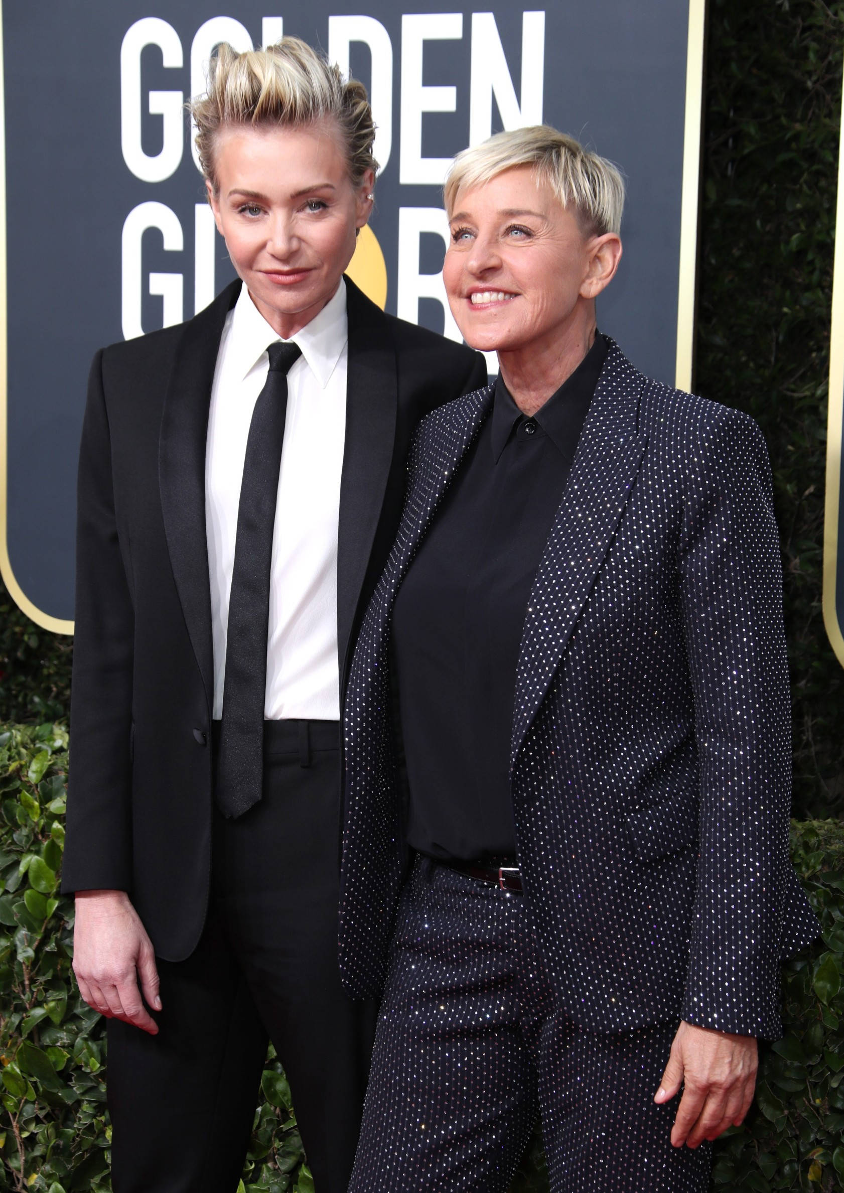 Portia de Rossi and Ellen DeGeneres 77th Annual Golden Globe Awards, Arrivals, Los Angeles, USA - 05 Jan 2020,Image: 491183370, License: Rights-managed, Restrictions: , Model Release: no, Credit line: - / Shutterstock Editorial / Profimedia