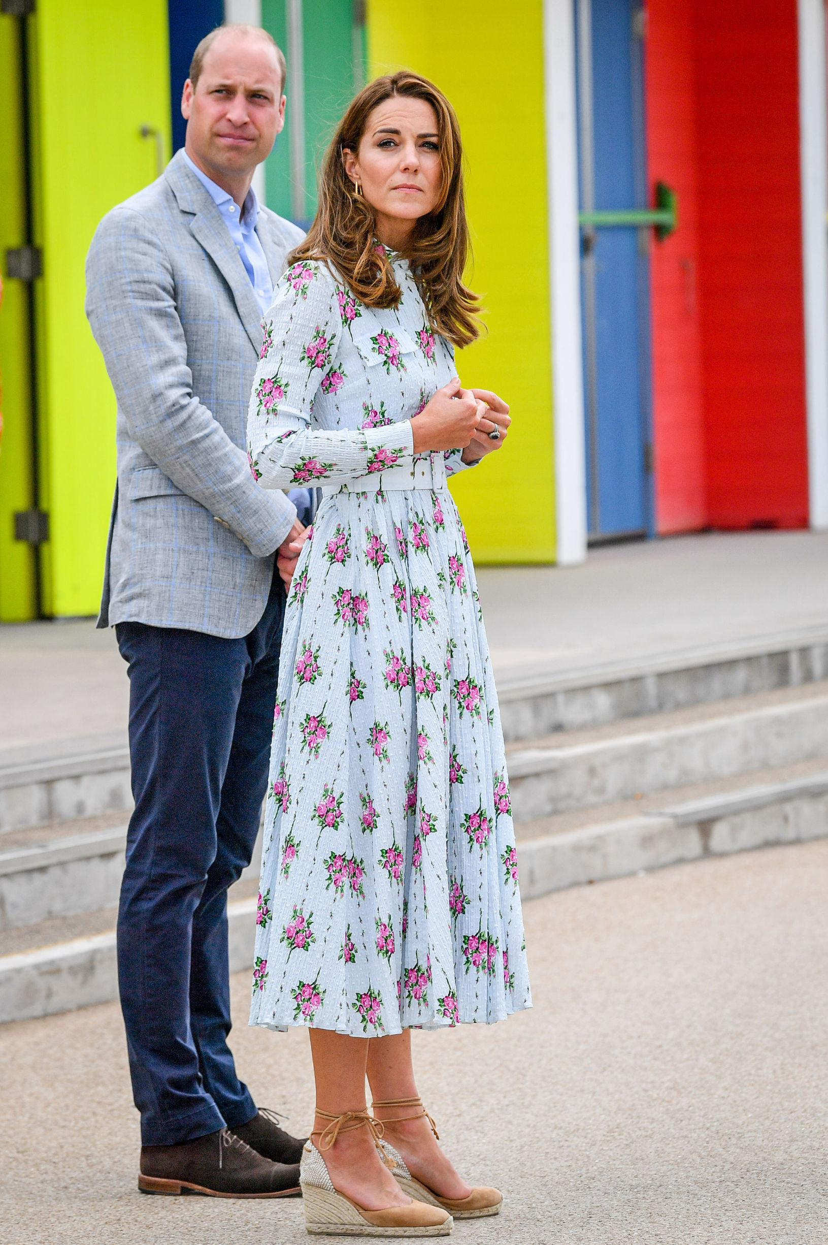 The Duke and Catherine Duchess of Cambridge on the promenade as they visit beach huts, during their visit to Barry Island, South Wales, to speak to local business owners about the impact of Covid-19 on the tourism sector The Duke and Duchess of Cambridge visit Barry Island, South Wales, Uk - 05 Aug 2020,Image: 550116953, License: Rights-managed, Restrictions: , Model Release: no, Credit line: - / Shutterstock Editorial / Profimedia