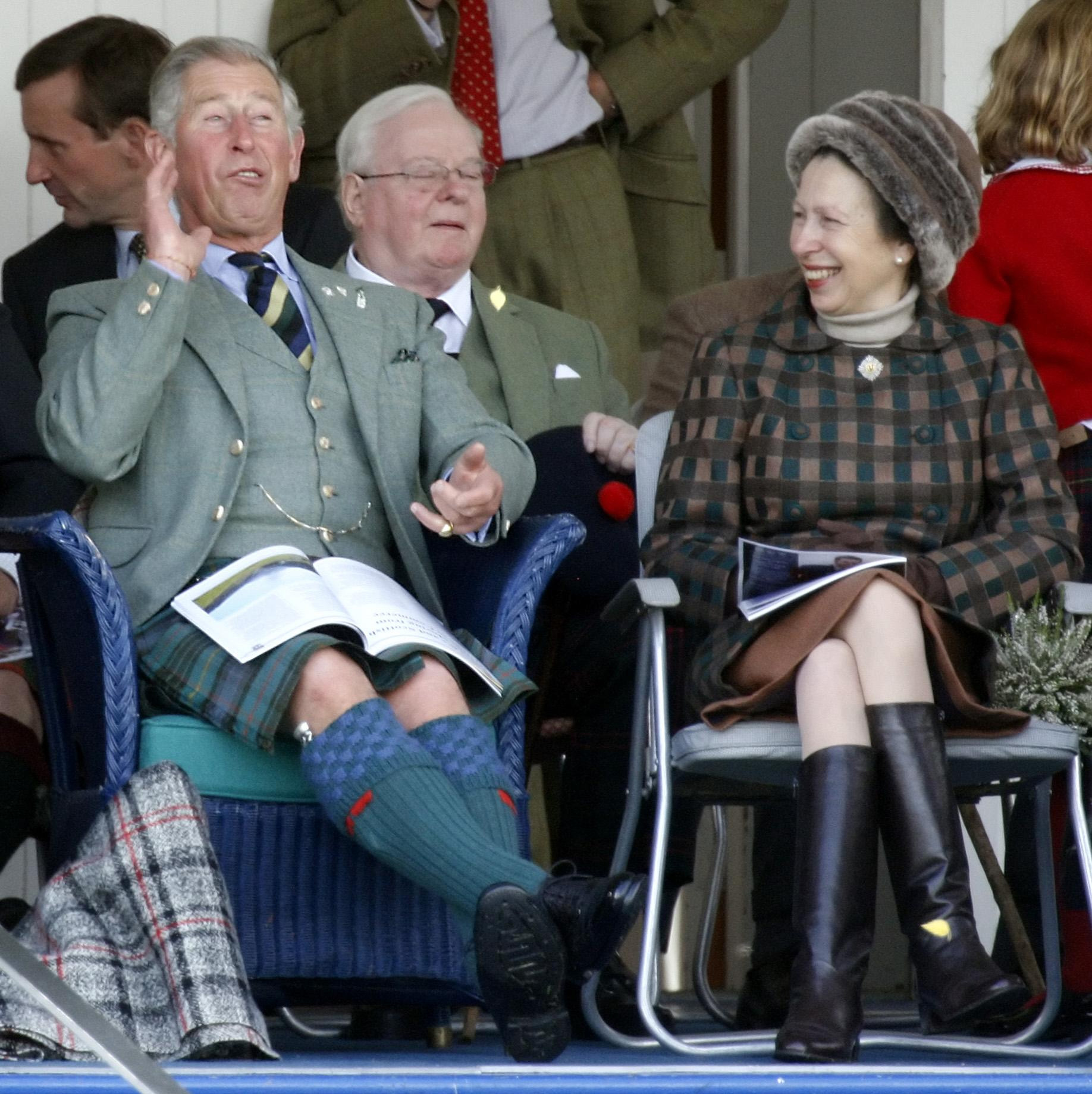 File photo dated 05/09/09 of the Prince of Wales and the Princess Royal during the Braemar Gathering Highland Games in Scotland. Anne celebrates her 70th birthday on Saturday.,Image: 551795601, License: Rights-managed, Restrictions: FILE PHOTO, Model Release: no, Credit line: Danny Lawson / PA Images / Profimedia