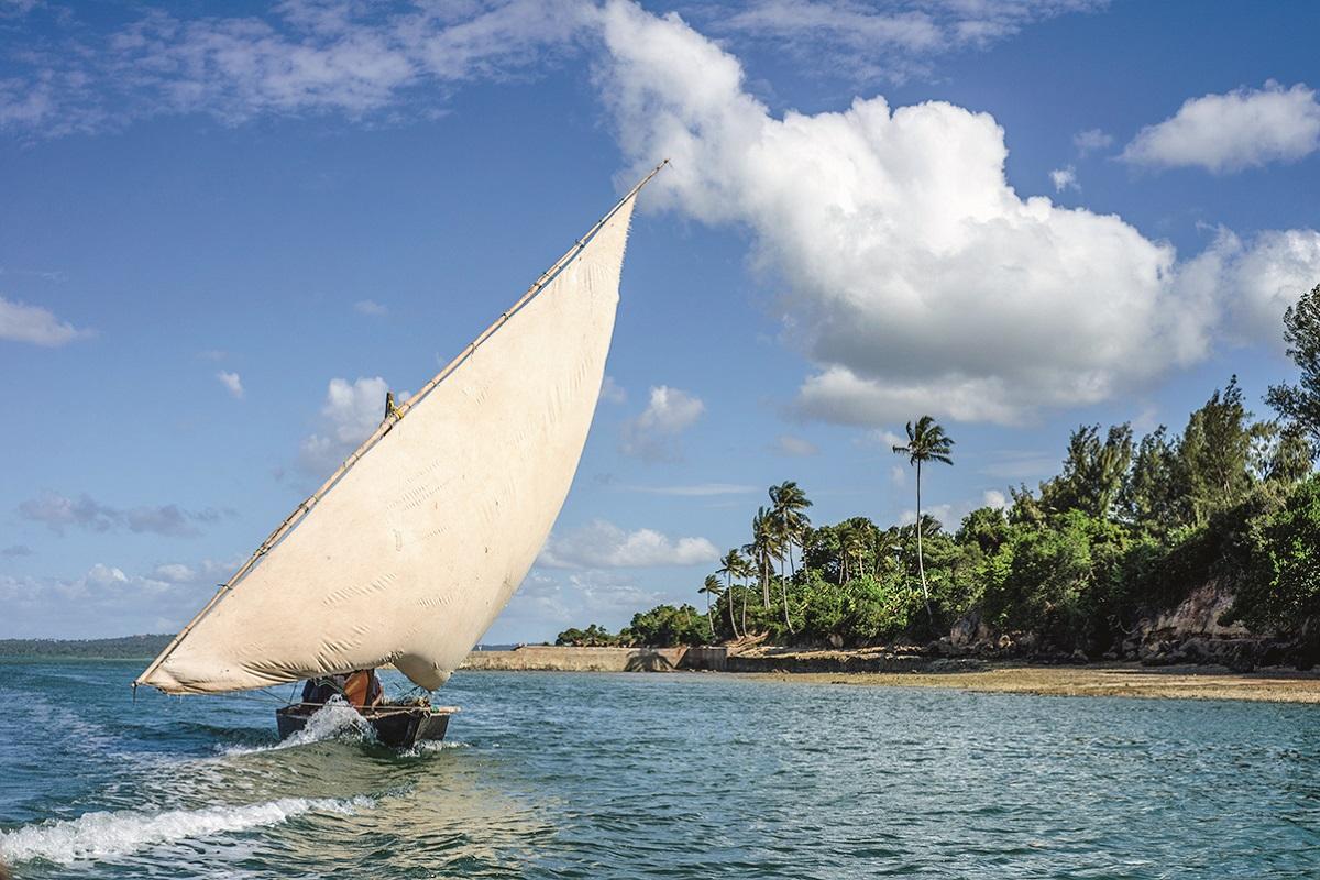 Fishing boat near Tumbatu island, Zanzibar, Tanzania. ( (Photo by Oleksandr Rupeta/NurPhoto))