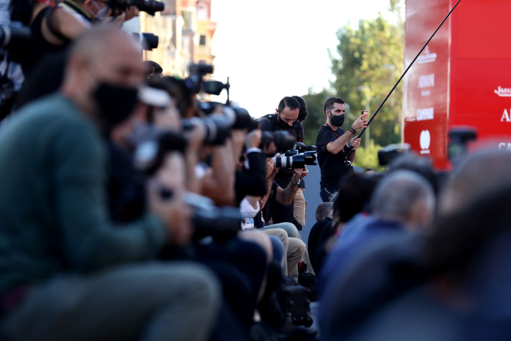 VENICE, ITALY - SEPTEMBER 01: A general view during the photocall of the Patroness of the 77th Venice Film Festival on September 01, 2020 in Venice, Italy. (Photo by Vittorio Zunino Celotto/Getty Images)