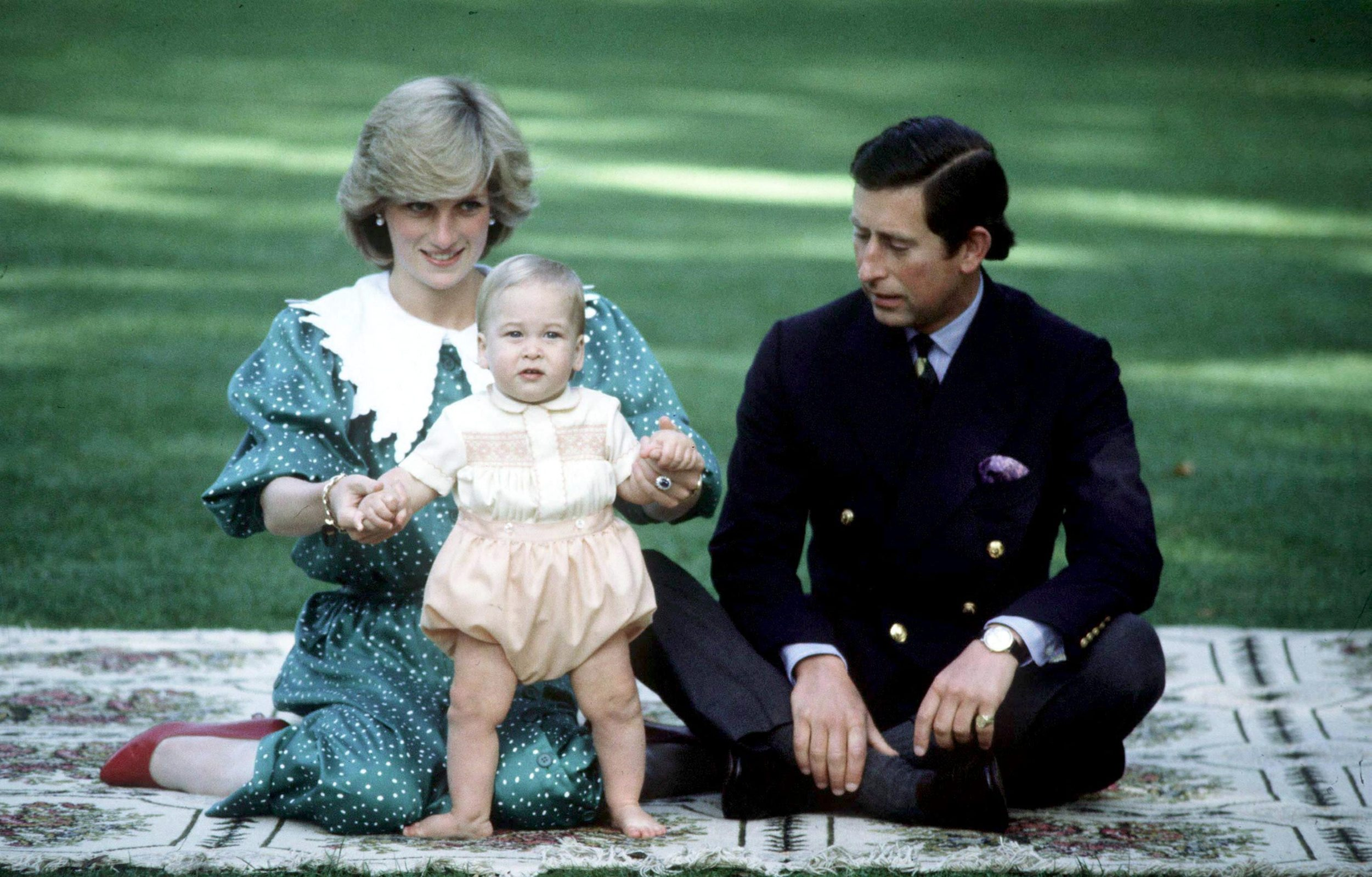 Prince William is seen with his parents HRH Prince Charles and the late Princess Diana (wearing Vanvelden puritan collar) during their 1983 official visit to New Zealand, in April 1983 in Auckland, New Zealand.,Image: 167008612, License: Rights-managed, Restrictions: WORLD RIGHTS - Fee Payable Upon Reproduction - For queries contact Photoshot  sales@photoshot.com  London: +44 (0) 20 7421 6000  Los Angeles: +1 917 704 9816  Berlin: +49 (0) 30 76 212 251, Model Release: no, Credit line: LFI/Photoshot / Avalon Editorial / Profimedia