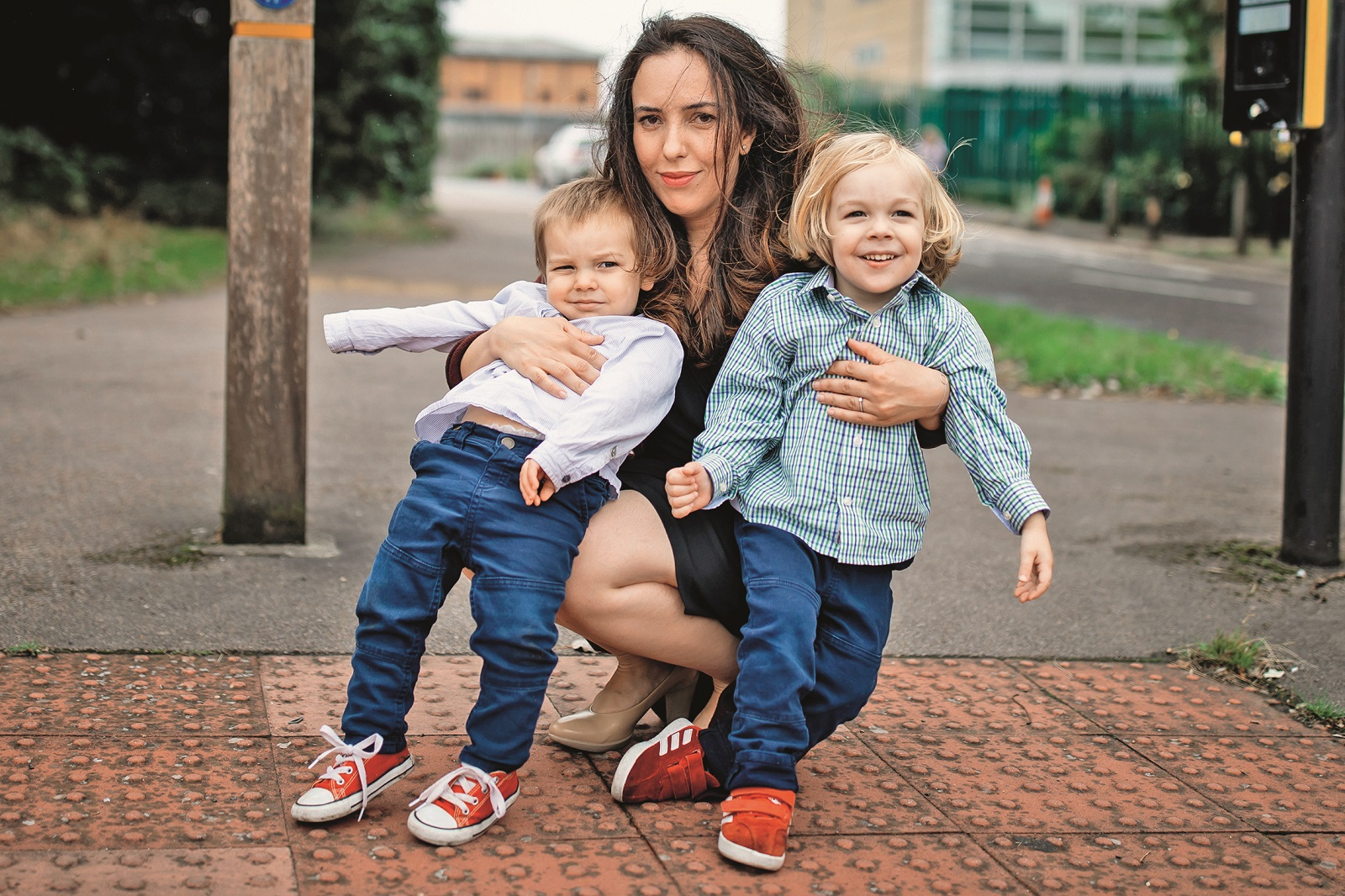 Stella Moris (centre) and sons, Gabriel (right) and Max (left) leave Belmarsh Prison after visiting her partner and their father, Julian Assange.,Image: 554989864, License: Rights-managed, Restrictions: , Model Release: no, Credit line: Aaron Chown / PA Images / Profimedia