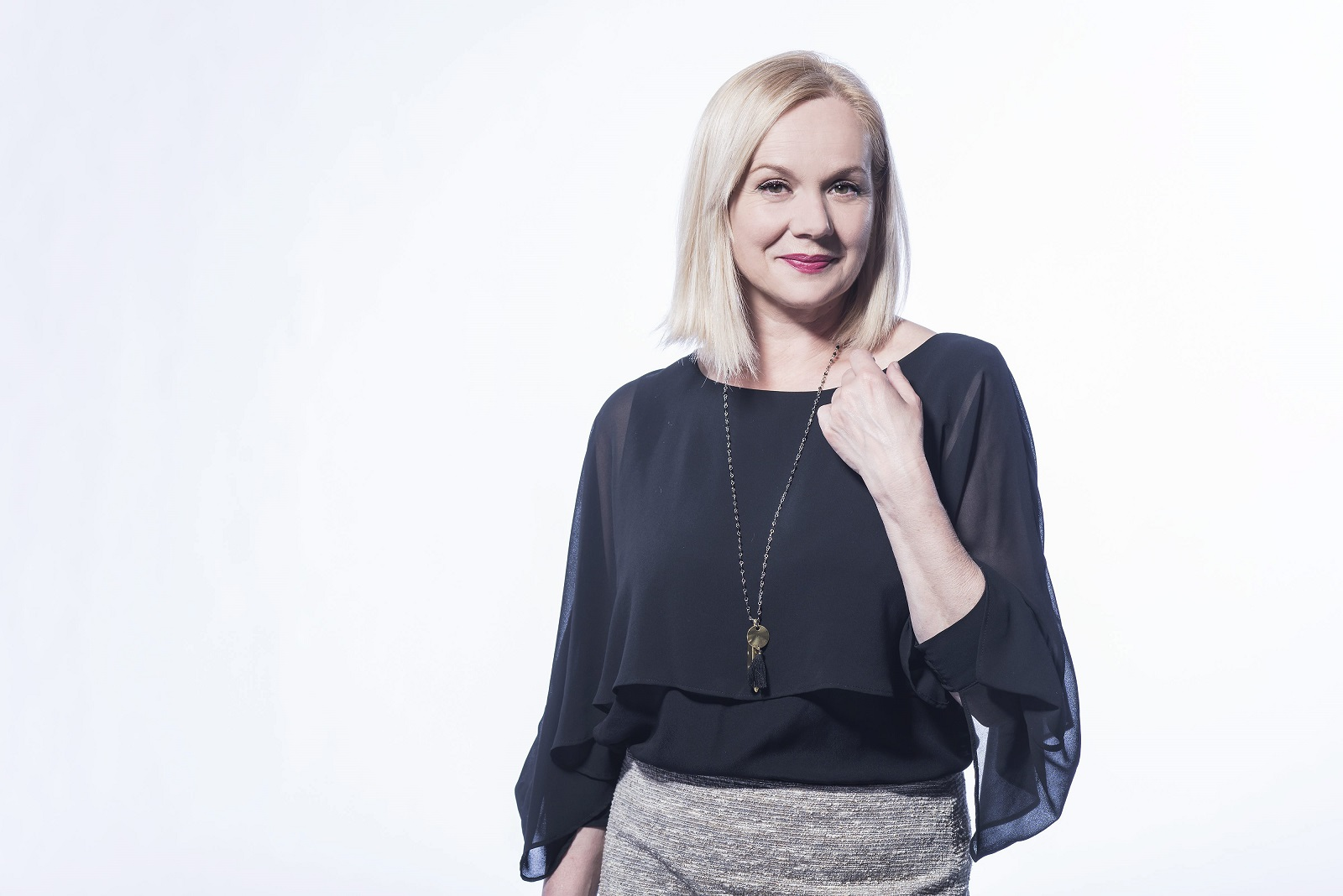 Zagreb, 140417.  Televizijska i kazalisna glumica Ksenija Pajic. Foto: Neja Markicevic / CROPIX