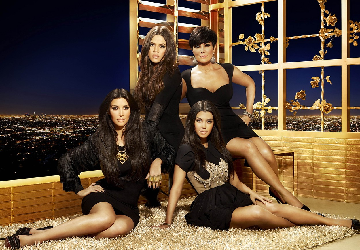 Los Angeles. CA. USA. Kourtney, Khloe and Kim Kardashian with Kris Jenner in the promo for   ©E! Channel reality show : Keeping Up With The Kardashians- season 5.,Image: 126760142, License: Rights-managed, Restrictions: Supplied by Landmark Media. Editorial Only. Landmark Media is not the copyright owner of these Film or TV stills but provides a service only for recognised Media outlets., Model Release: no, Credit line: Supplied by LMK / Landmark / Profimedia