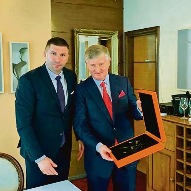 Rinat Ahmetov, vlasnik niza kompanija povezanih u holding System Capital Management i Ivica Pirić, predsjednik Ukrajinske gospodarske komore