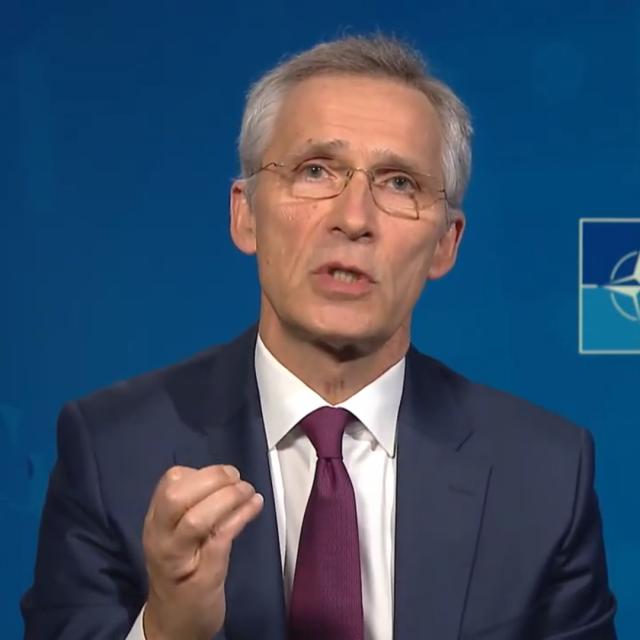 Isječak iz video intervjua. Na slici: Glavni tajnik NATO-a Jens Stoltenberg