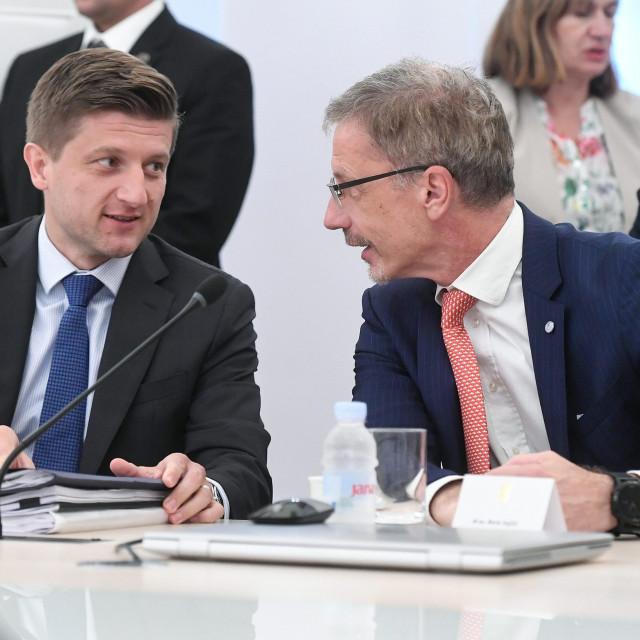 Zdravko Marić, ministar financija i Boris Vujčić, guverner HNB-a
