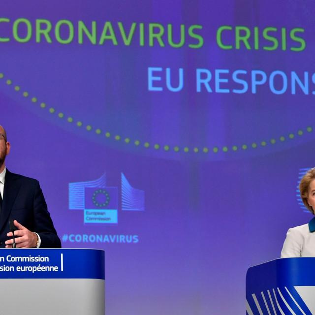 Charles Michel, predsjednik Europskog vijeća i Ursula von der Leyen, predsjednica Europske komisije