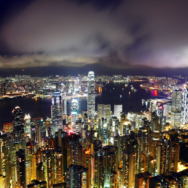 Hong Kong noću