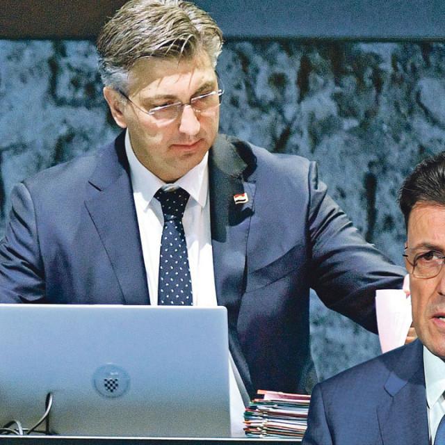 Andrej Plenković (lijevo), Luka Burilović (desno)
