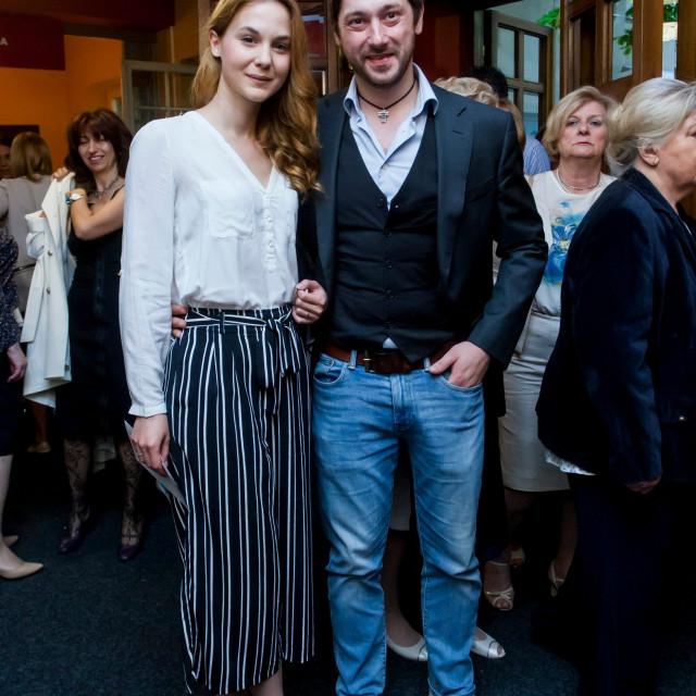 Nevena Ristić i Marko Vukes na premijeri predstave 'Slikari rudari'