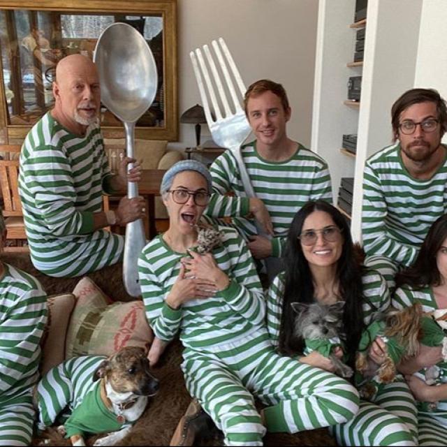 Demi Moore i Bruce Willis s obitelji u izolaciji