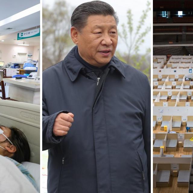Xi Jinping i prizori iz Wuhana u jeku epidemije