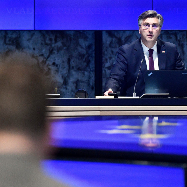 PM Andrej Plenkovic during the Parliamentary session