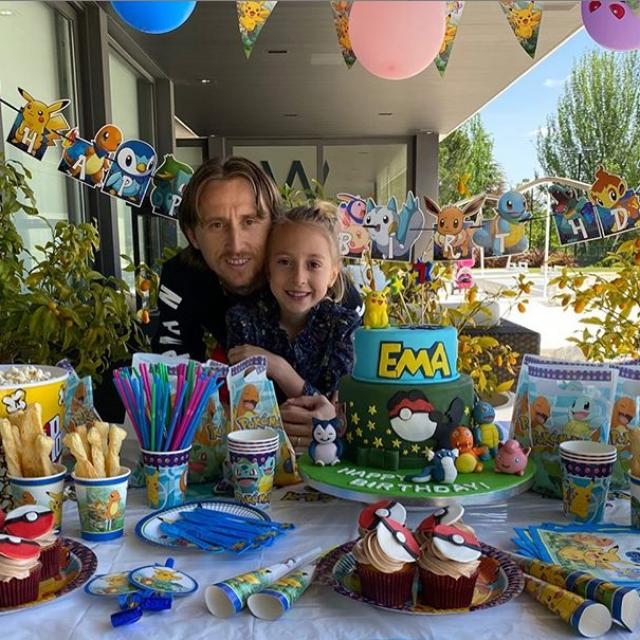 Luka Modrić i kći Ema