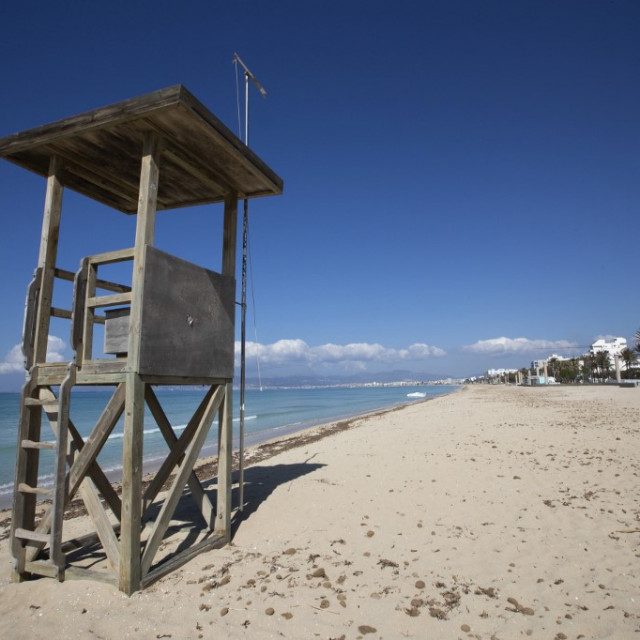 Prazna Palma Beach u Palma de Mallorci