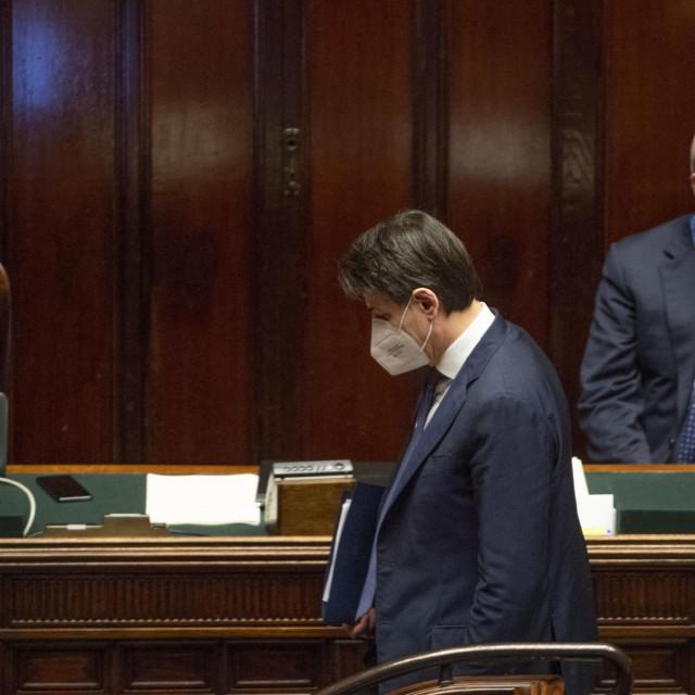 Talijanski premije Giuseppe Conte u parlamentu